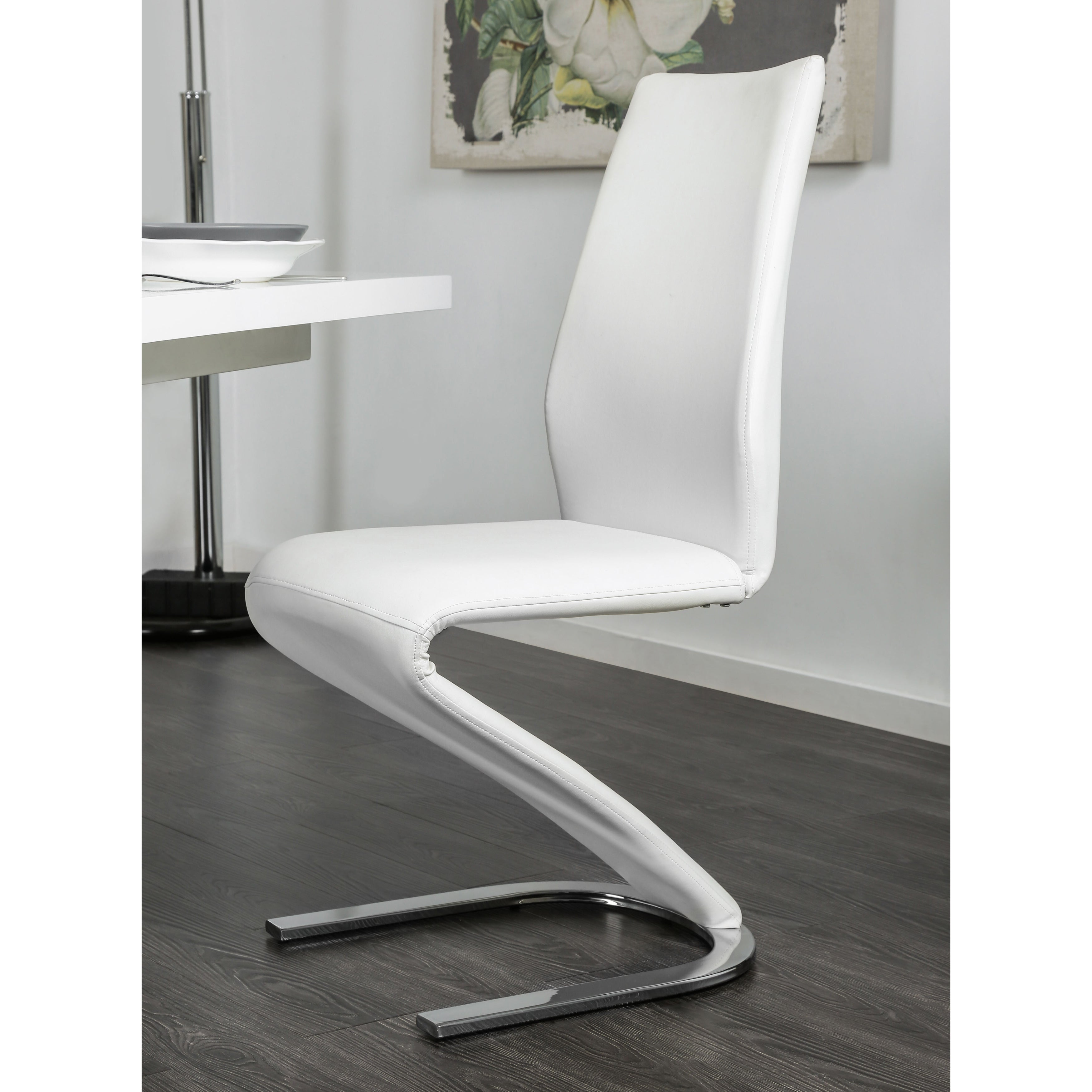 Attractive Furniture Of America Novas Contemporary 5 Piece Glossy White Expandable  Dining Set   Free Shipping Today   Overstock.com   19941451