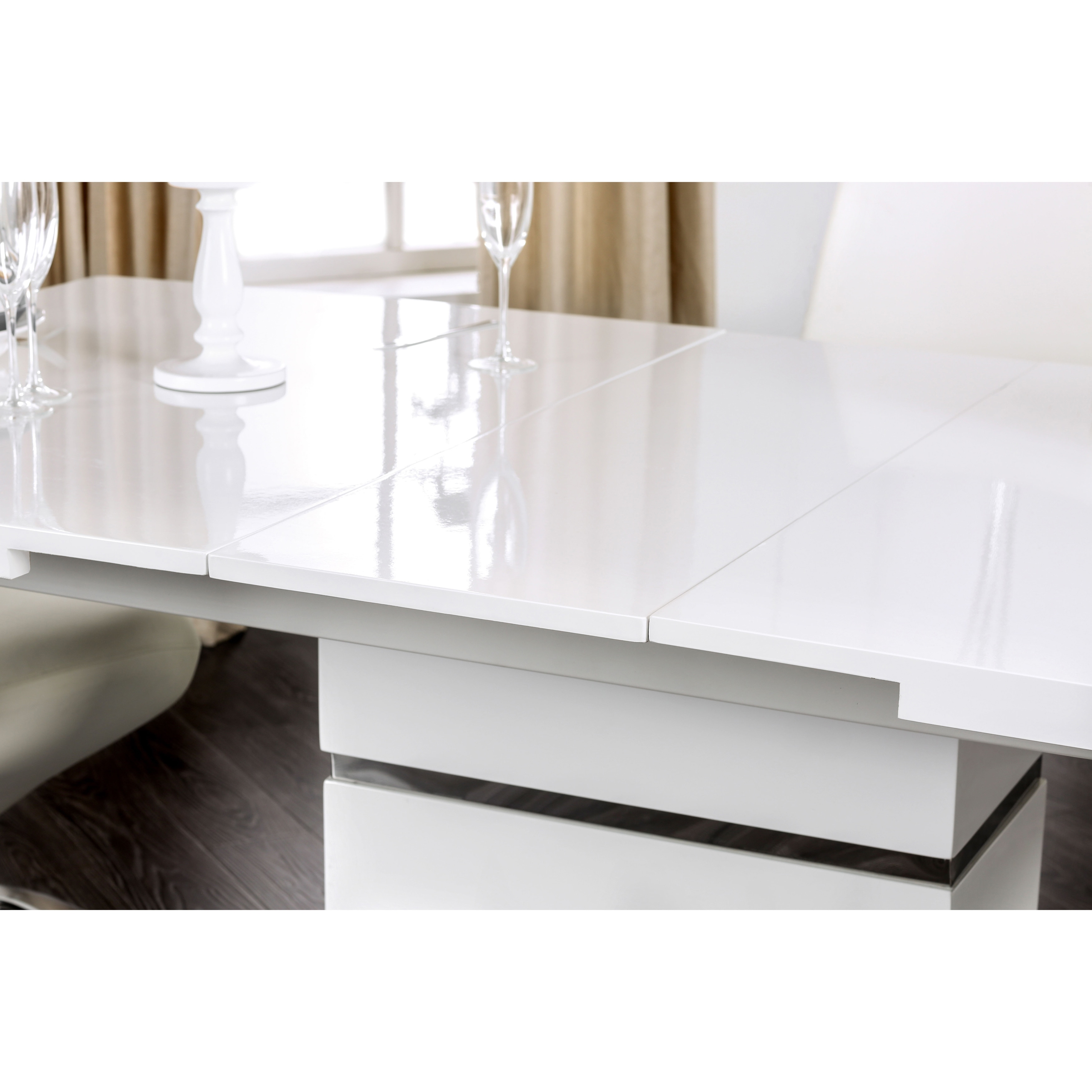 Etonnant Shop Furniture Of America Novas Contemporary Glossy White Dining Table With  14 Inch Butterfly Leaf   On Sale   Ships To Canada   Overstock.ca   13223917