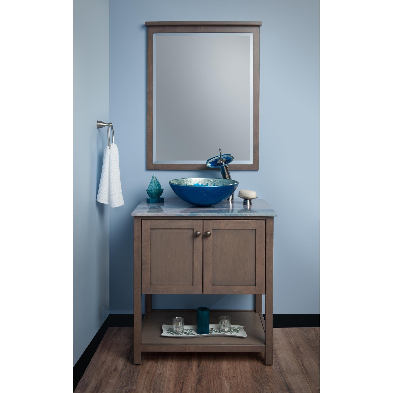 Novatto Diaccio Glass Vessel Bathroom Sink Set, Brushed Nickel ...