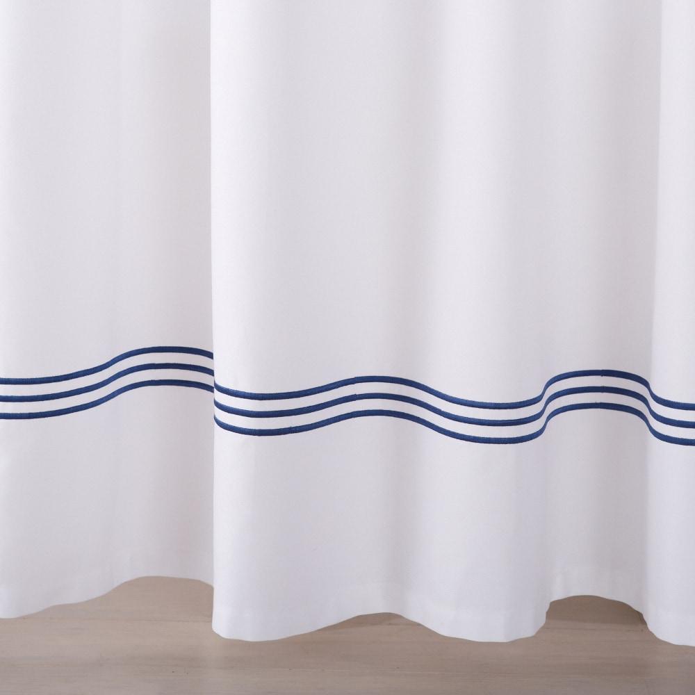 Aurora Collection Embroidered Hem Heavyweight Cotton Shower ...