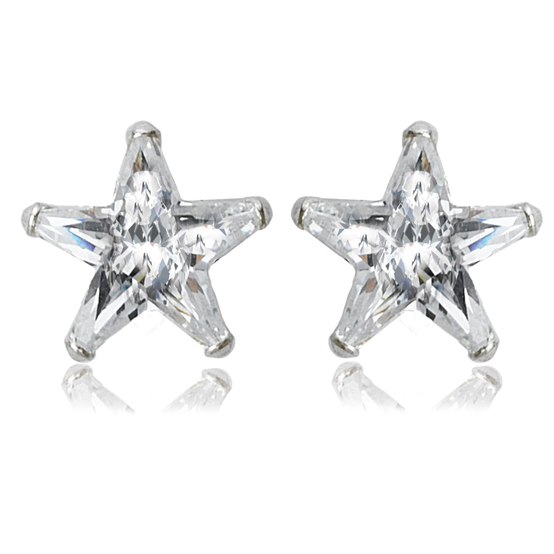 Avanti Sterling Silver Cubic Zirconia Star Shape Stud Earrings On Free Shipping Orders Over 45 13232646