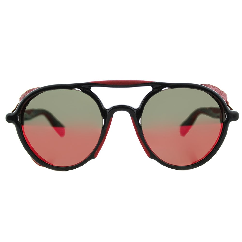 ce9c32233b42 Shop Givenchy GV 7038 TFD Black Red Plastic Round Red Mirror Lens Sunglasses  - Free Shipping Today - Overstock - 13250566