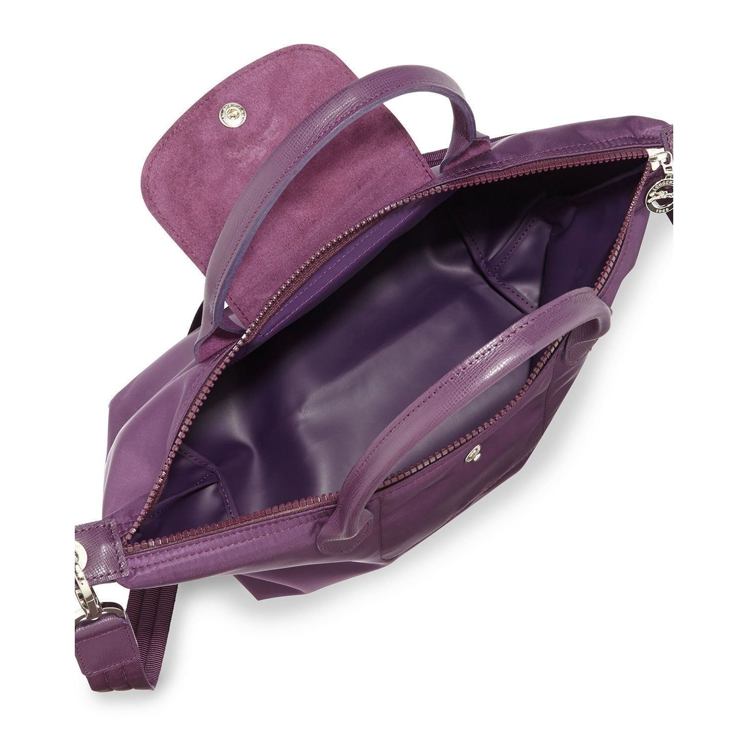 a9114592e9b9 Shop Longchamp Le Pliage Neo Bilberry Purple Canvas Tote Bag - Free  Shipping Today - Overstock - 13251346