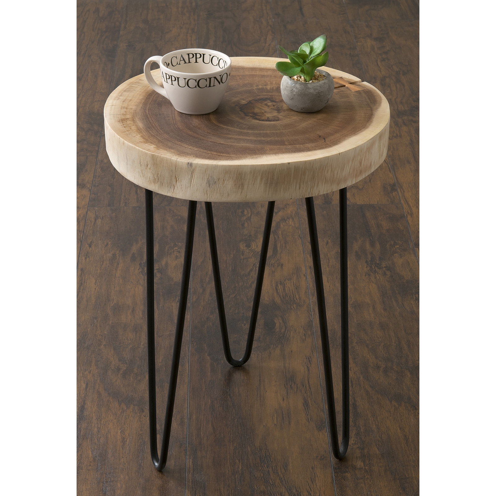 Pine Canopy Nantahala Brown Teakwood Round Accent Table   Free Shipping  Today   Overstock   19966268