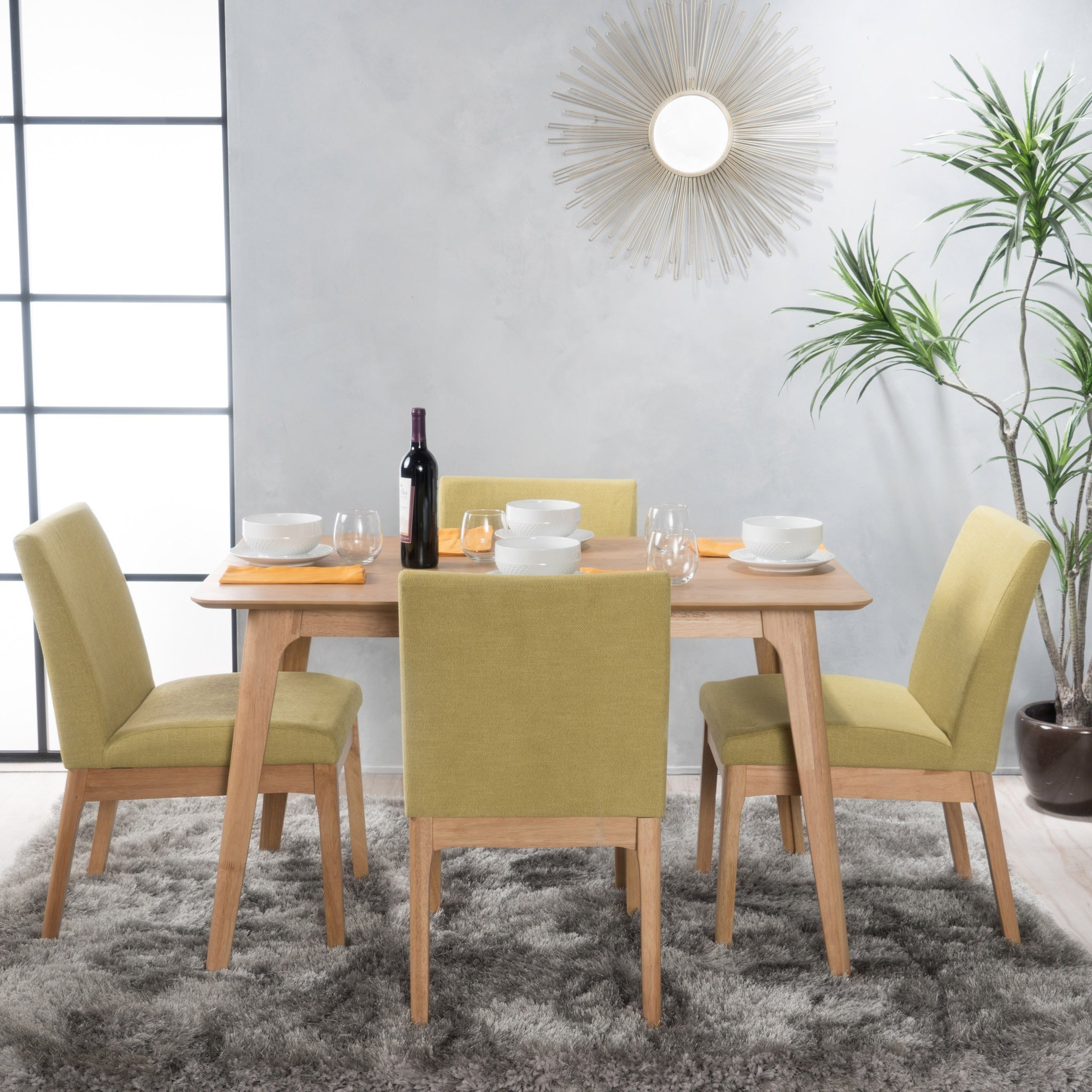 Incroyable Shop Kwame Mid Century 5 Piece Square Dining Set By Christopher Knight Home    On Sale   Free Shipping Today   Overstock.com   13252994