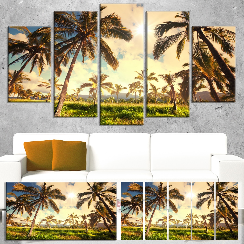 Shop Designart \'Beautiful Palm Plantation in Hawaii\' African ...