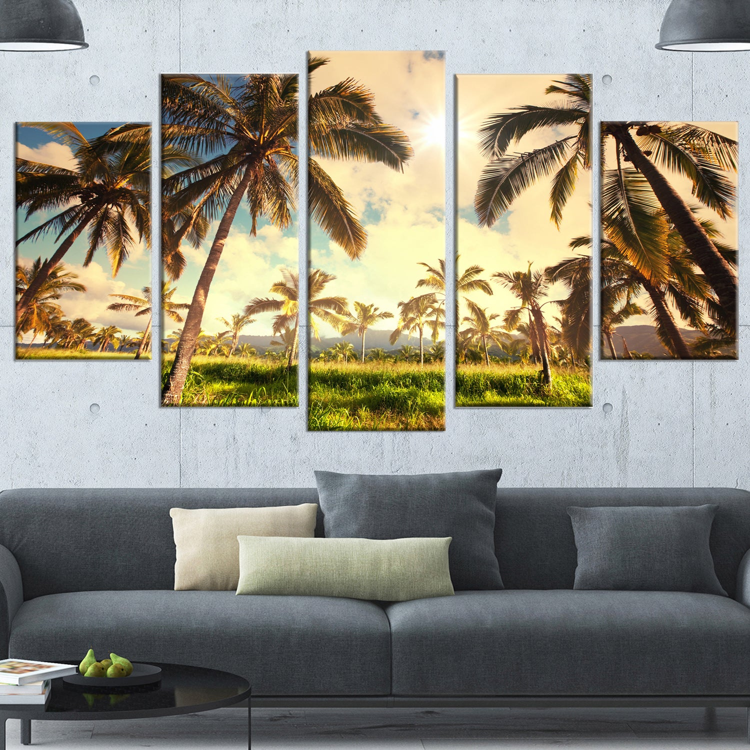 Shop Designart \'Beautiful Palm Plantation in Hawaii\' African ...