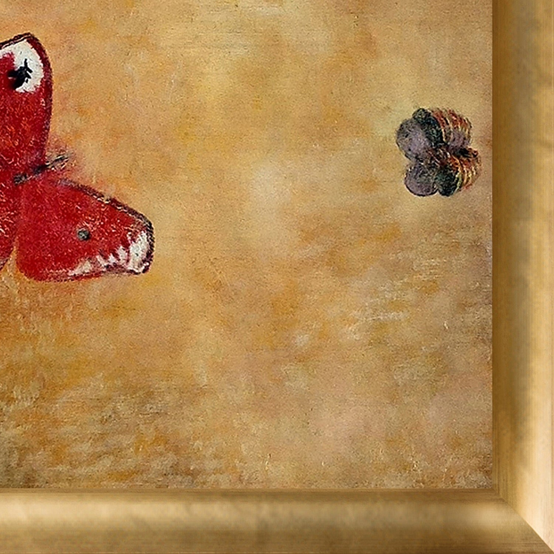 Shop Odilon Redon \'Butterflies, 1913\' Hand Painted Framed Oil ...