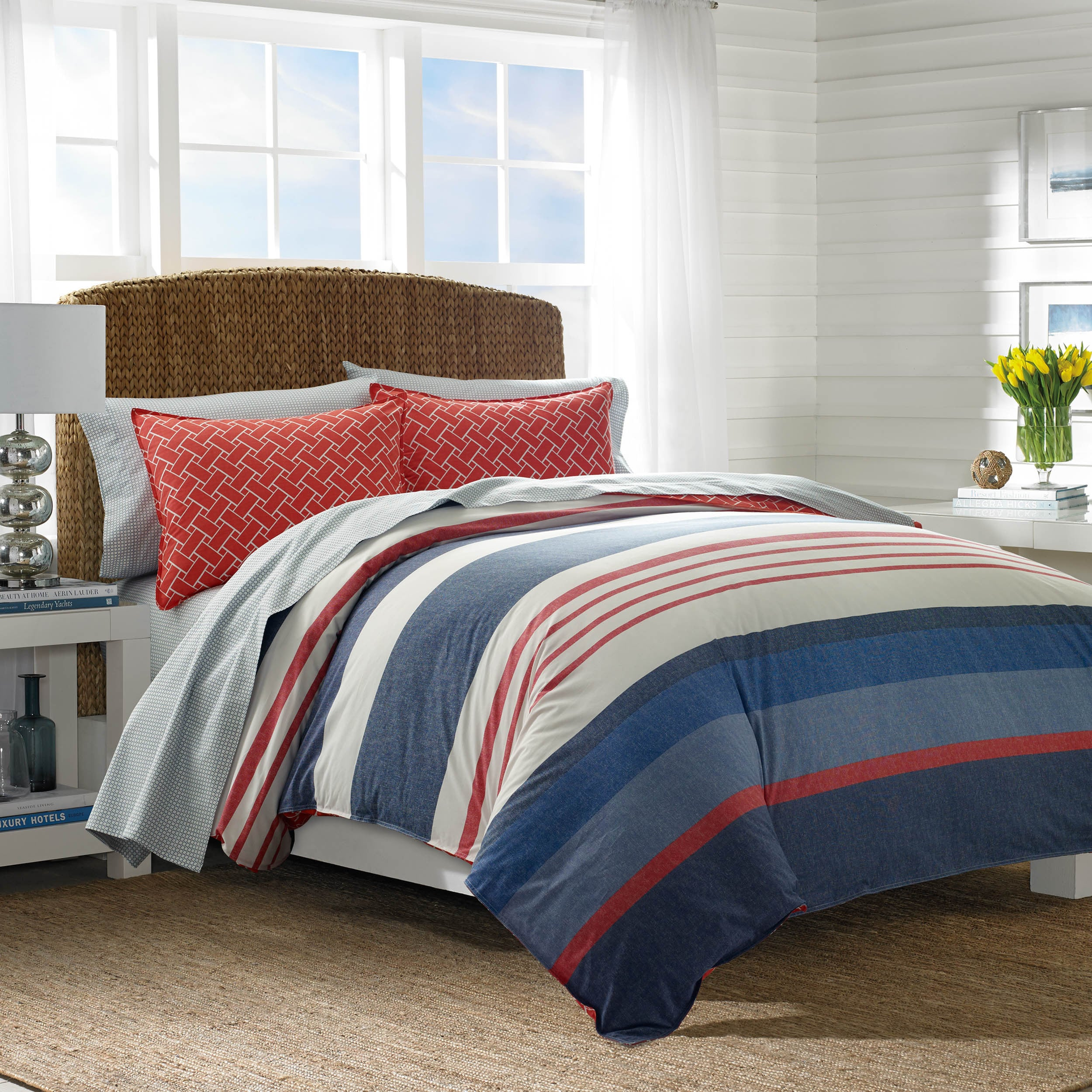 queen maroon decoration stripe rustic nautica pattern bedroom extraordinary bedding comforter in cali ideas stunning with for set southport s bed sets white king black
