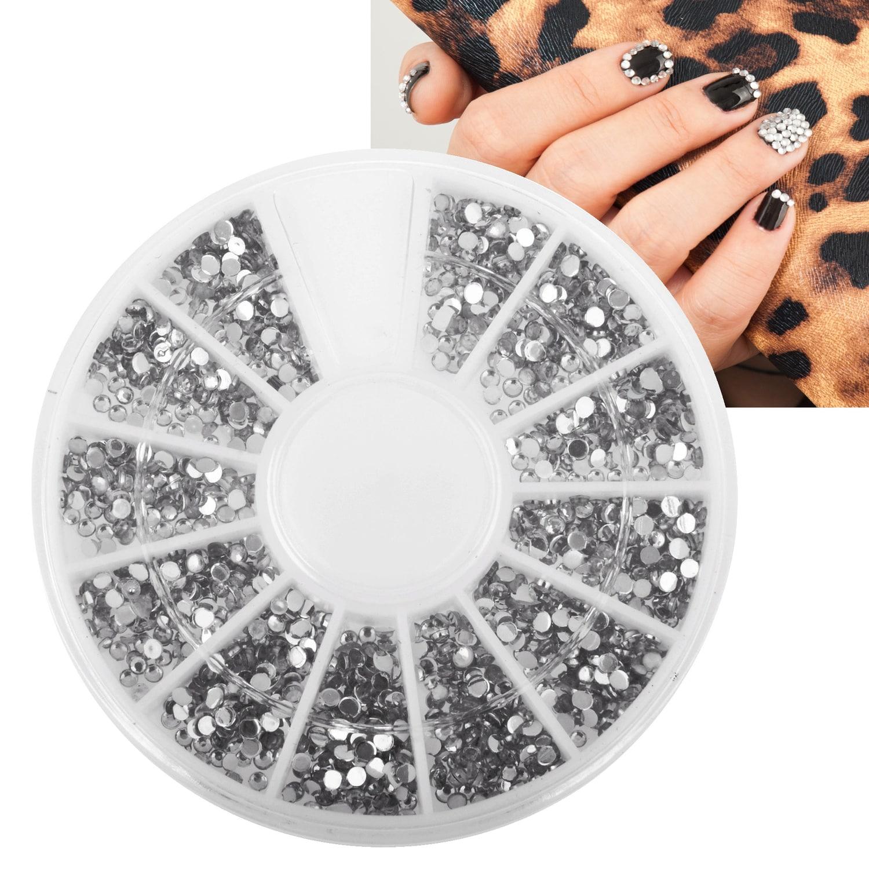 Zodaca 5-piece Nail Art Gift Set of Stickers/ 3D Glitter Rhinestones ...