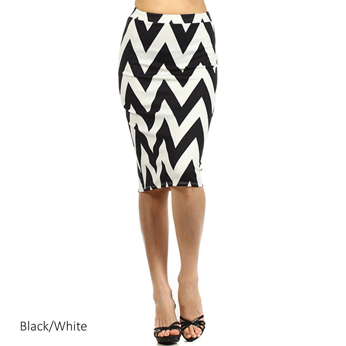 Clothing, Shoes & Accessories For Cynthia Womens Chevrom Striped Knee Length Skirt Size L
