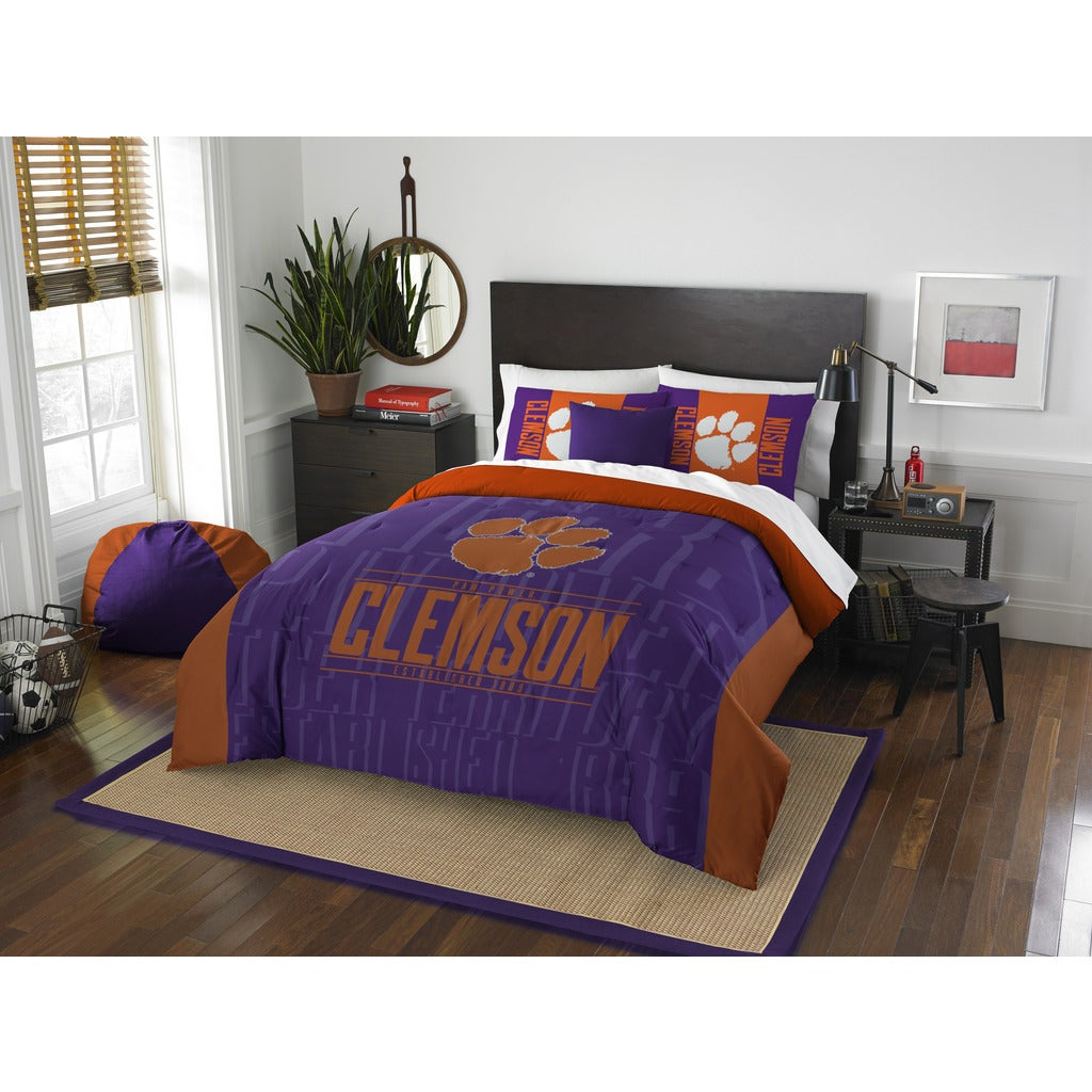 Shop The Northwest Company Clemson Modern Take Purple and Orange ...