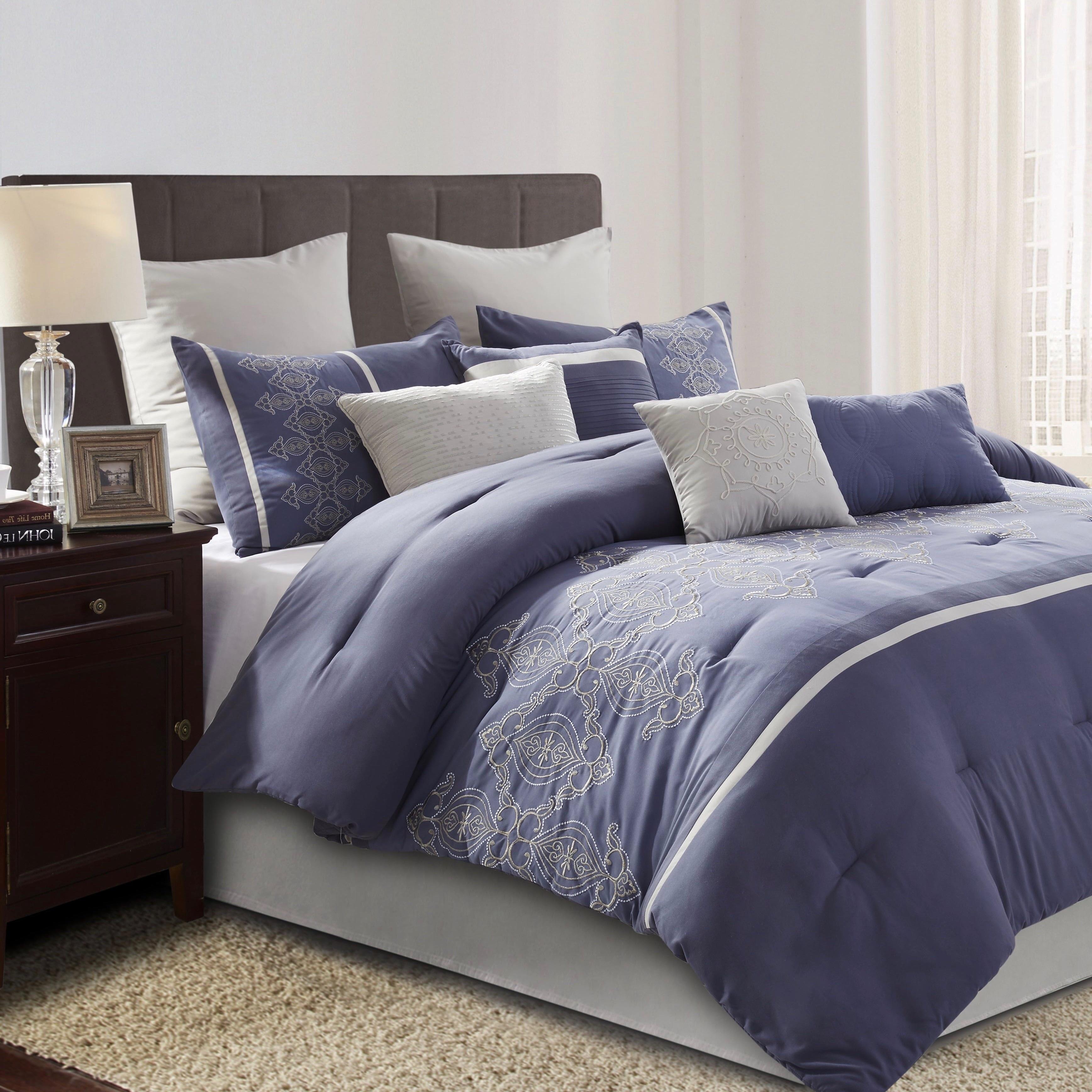 4f5060fd3 Style Decor Audrey 10-piece Embellished Complete Comforter Set