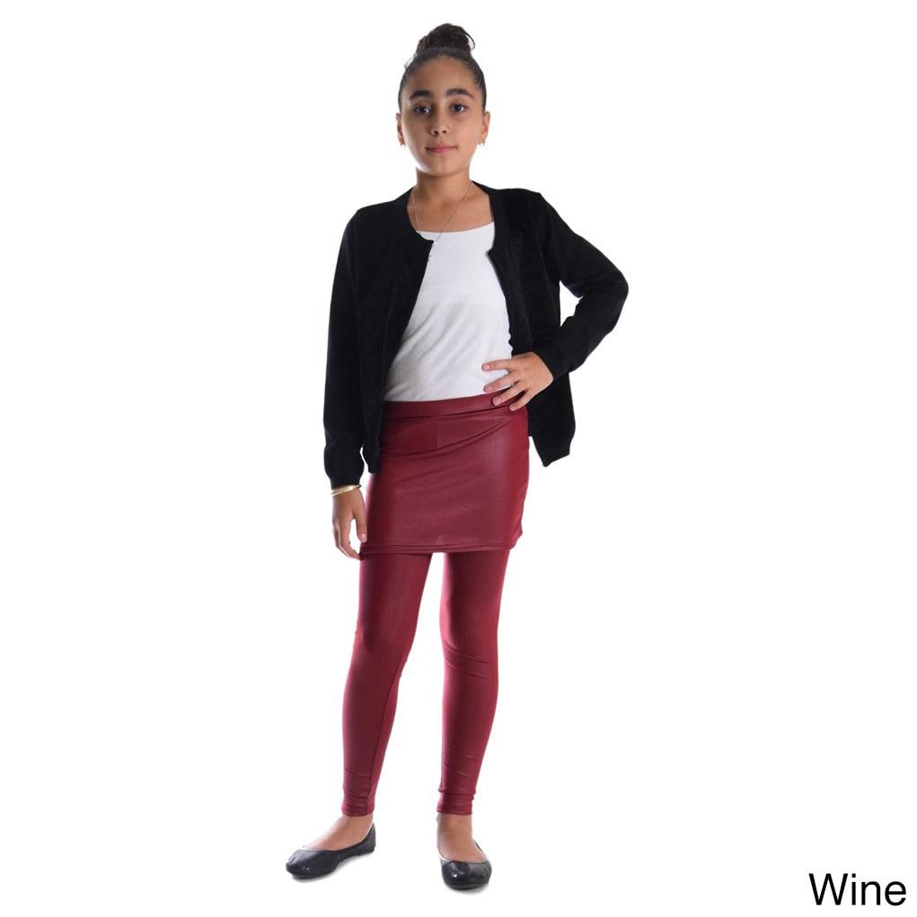 67c95ef4bfc2e Shop Girls' Shiny Metallic Elastic Skirted Leggings - Free Shipping On  Orders Over $45 - Overstock - 13260866