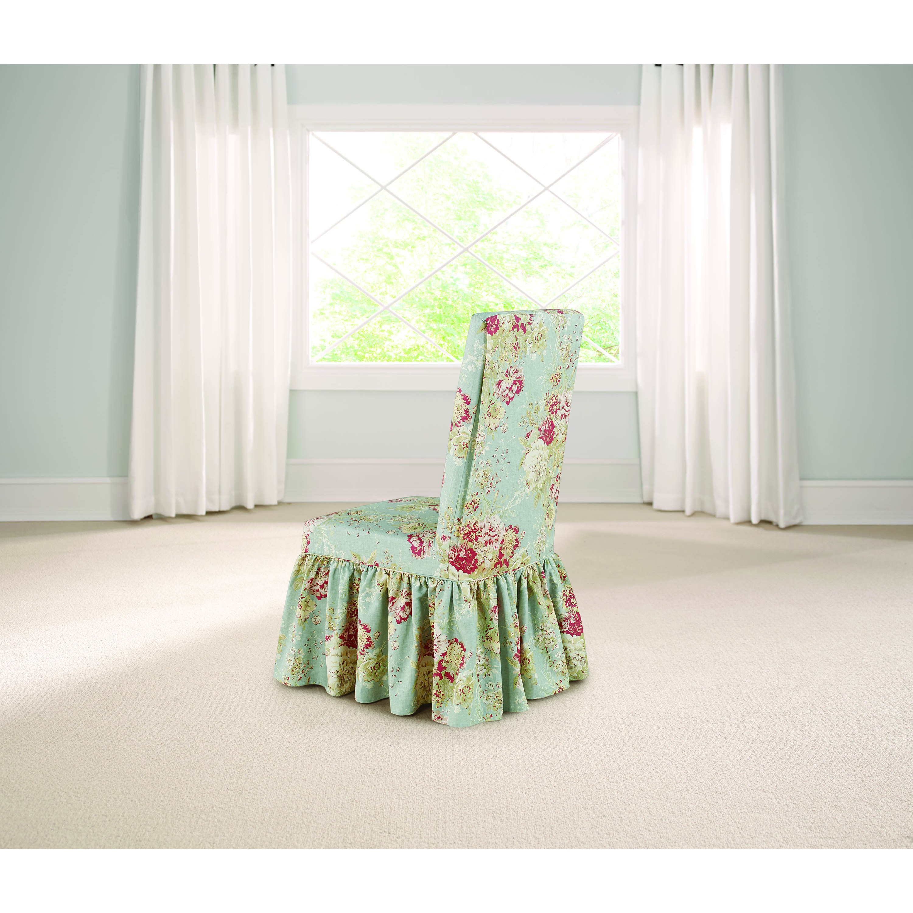 Shop Sure Fit Waverly Ballad Bouquet Dining Room Chair Slipcover   On Sale    Free Shipping On Orders Over $45   Overstock.com   13260969
