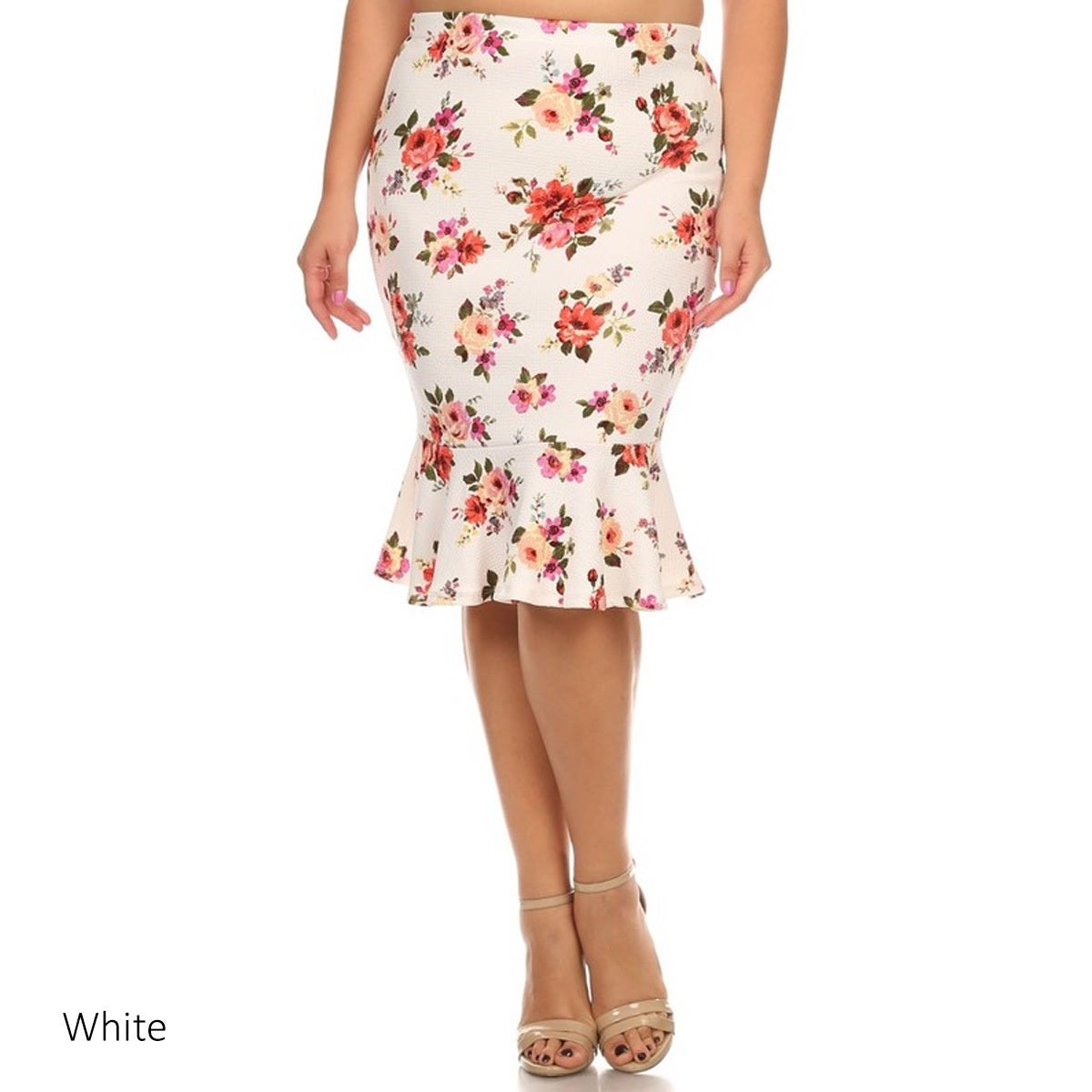 90131c6b53c Shop MOA Collection Women s Floral Plus-size Mermaid Skirt - On Sale - Free  Shipping On Orders Over  45 - Overstock - 13262242