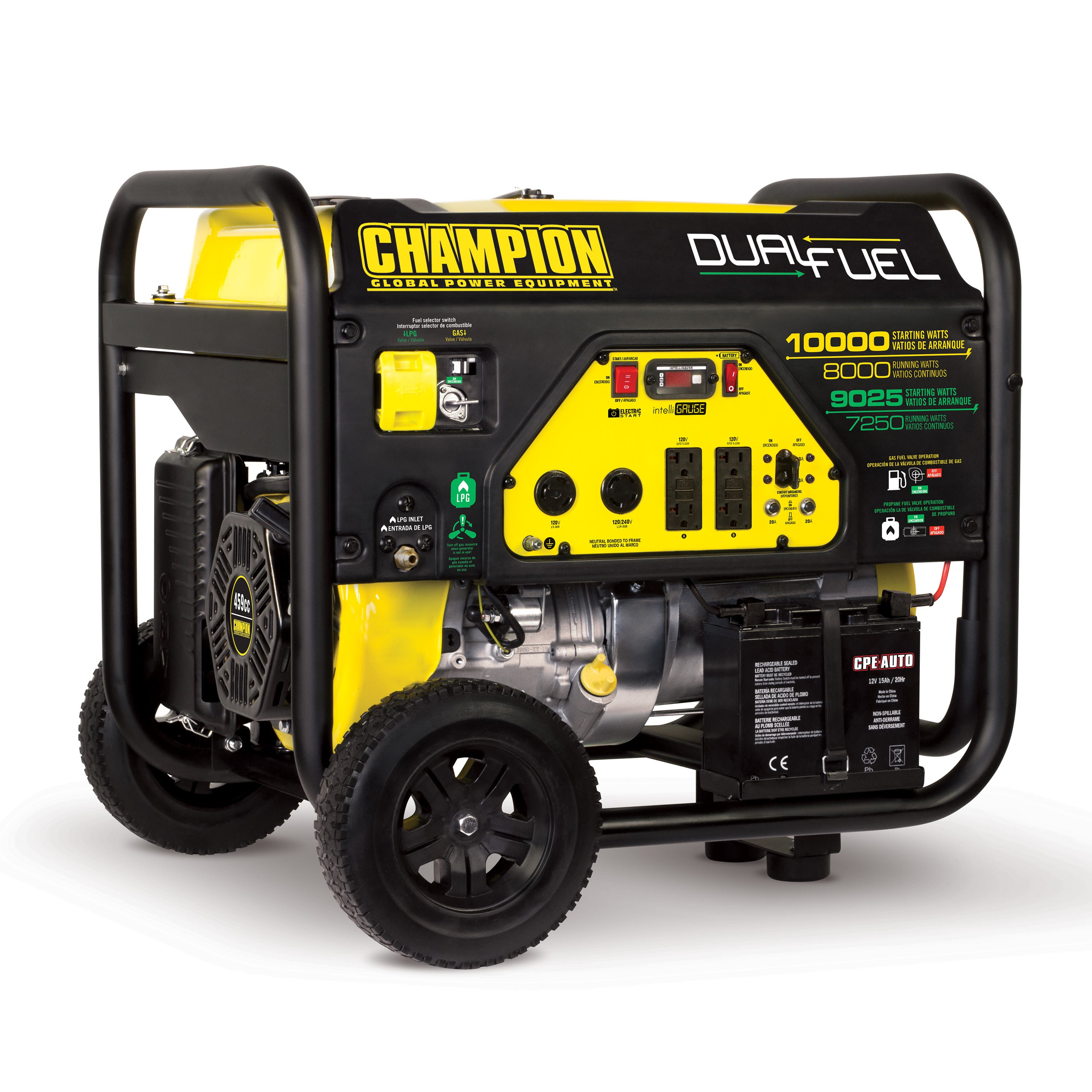 Champion 8000 Watt Dual Fuel Portable Generator with Electric