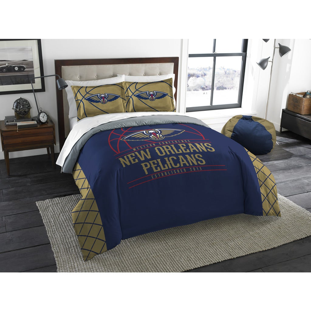 fbe43c08c7c Shop The Northwest Company NBA New Orleans Pelicans Reverse Slam Full Queen  3-piece Comforter Set - Free Shipping Today - Overstock - 13262879