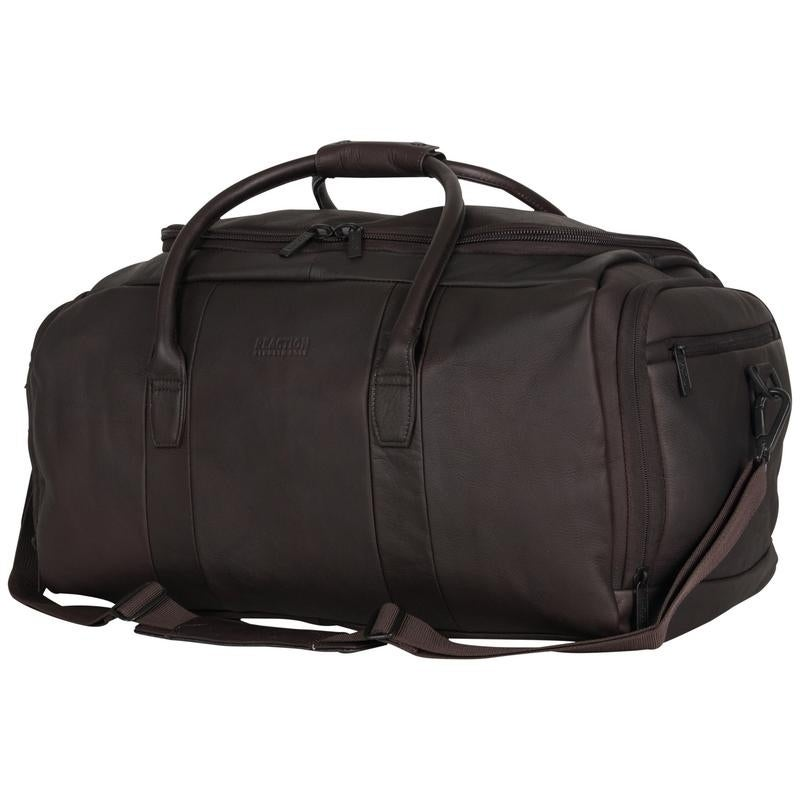 573b6b2361 Shop Kenneth Cole Reaction Colombian Leather 20-inch Top Load Multi-Compartment  Duffel Bag / Carry On - Free Shipping Today - Overstock - 13276527