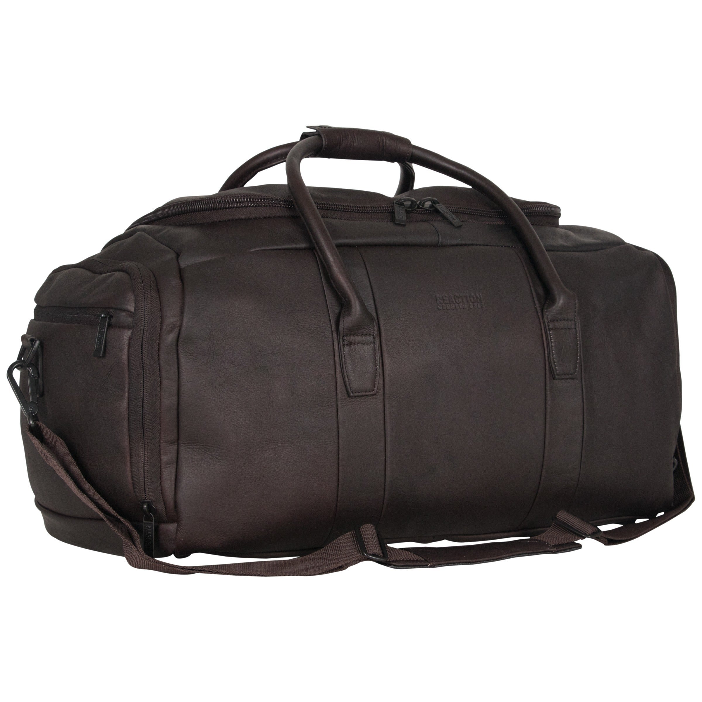 2b9c0caef48 Kenneth Cole Reaction Colombian Leather 20-inch Top Load Multi-Compartment  Duffel Bag / Carry On