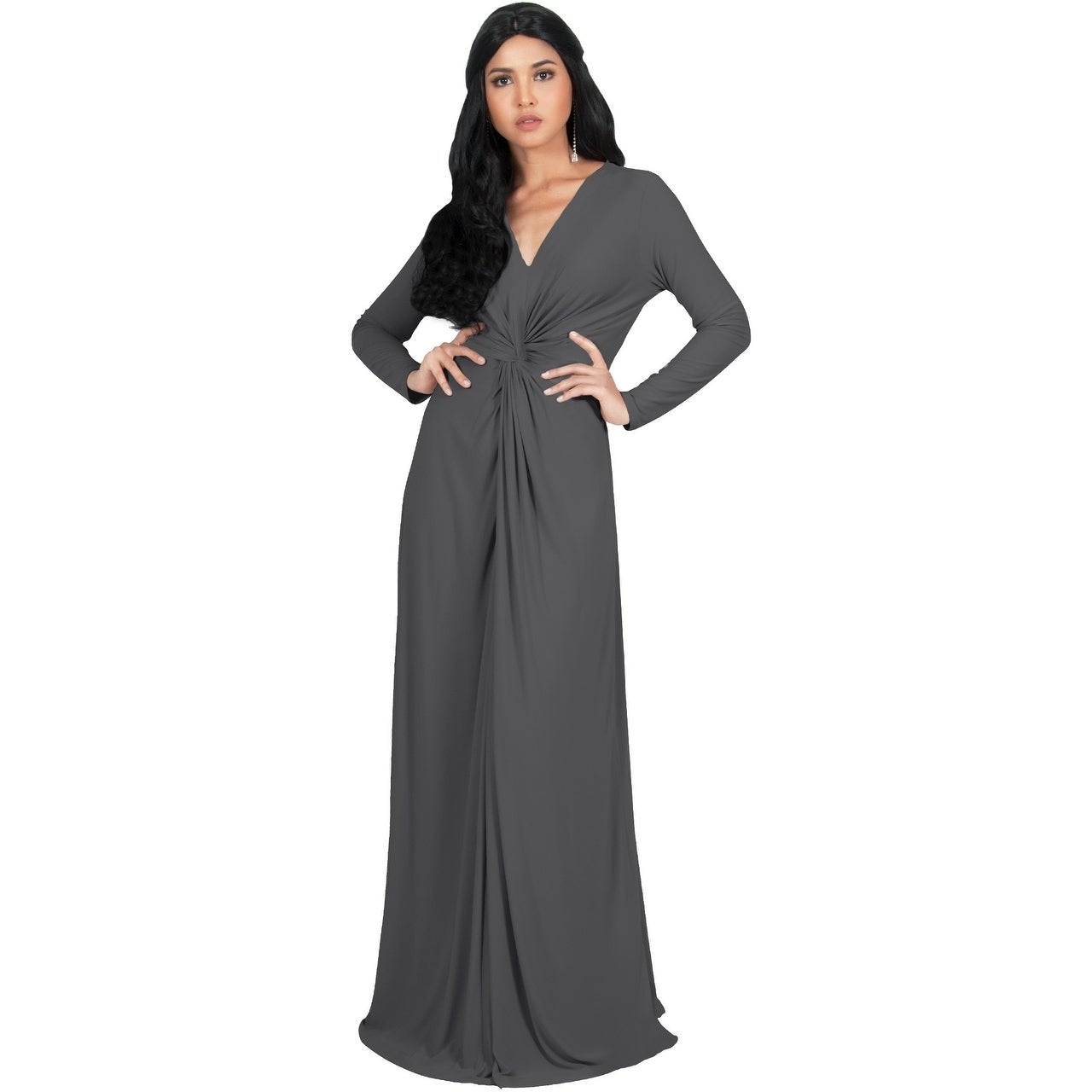 c98f737eb1 Shop KOH KOH Womens Semi Formal Flowy Fall Long Sleeve Gowns Maxi ...