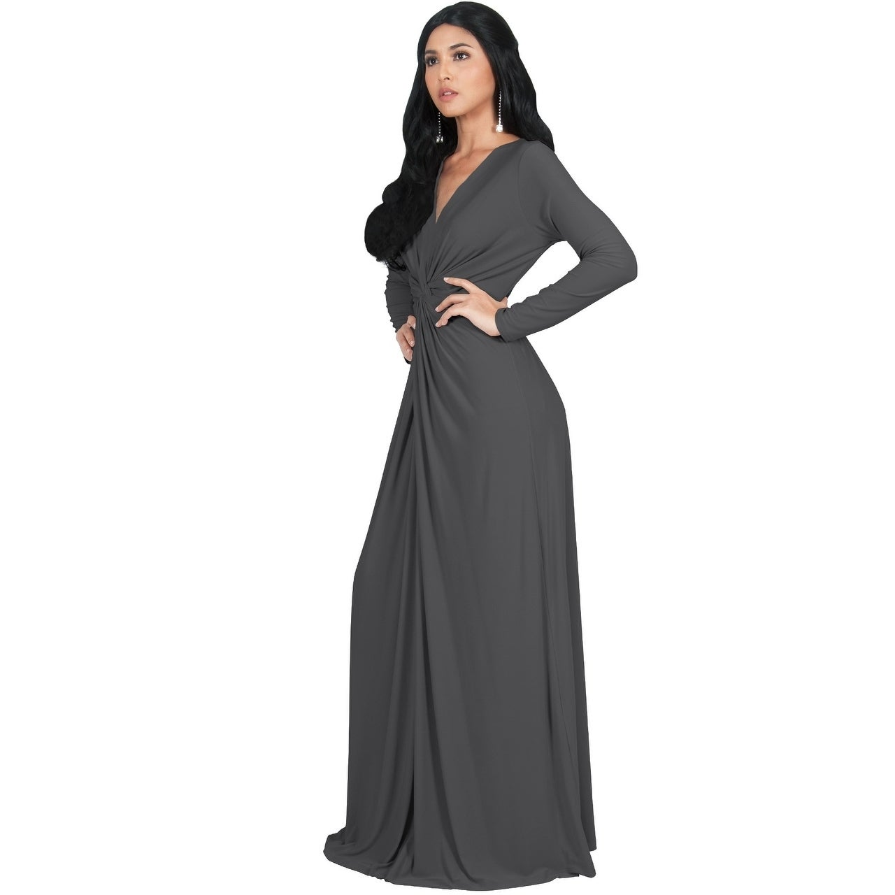 2977f0ed58850f Shop KOH KOH Womens Semi Formal Flowy Fall Long Sleeve Gowns Maxi Dresses -  Free Shipping Today - Overstock - 13285964