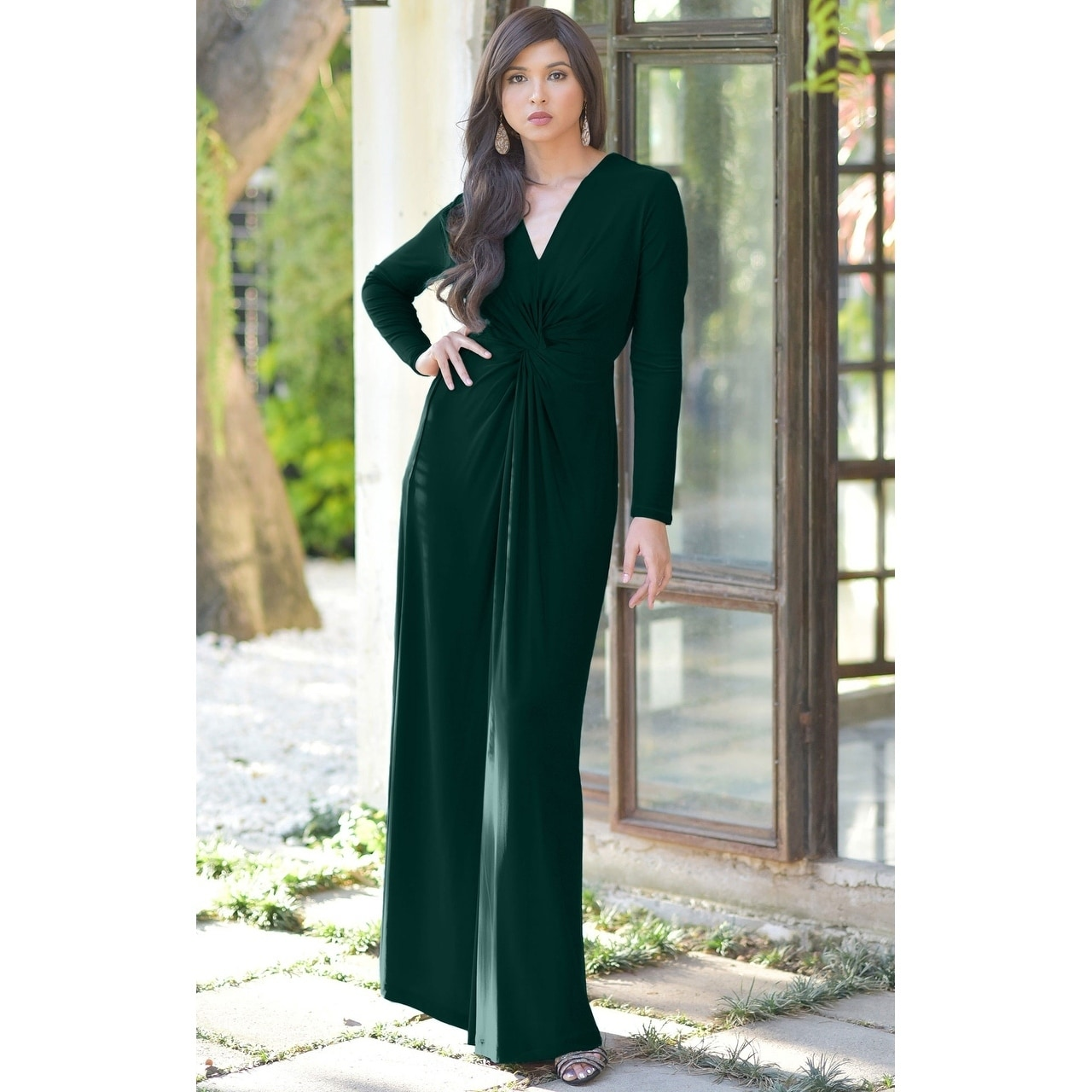 Shop KOH KOH Womens Semi Formal Flowy Fall Long Sleeve Gowns Maxi Dresses -  Ships To Canada - Overstock - 13285964 a1430b4f1
