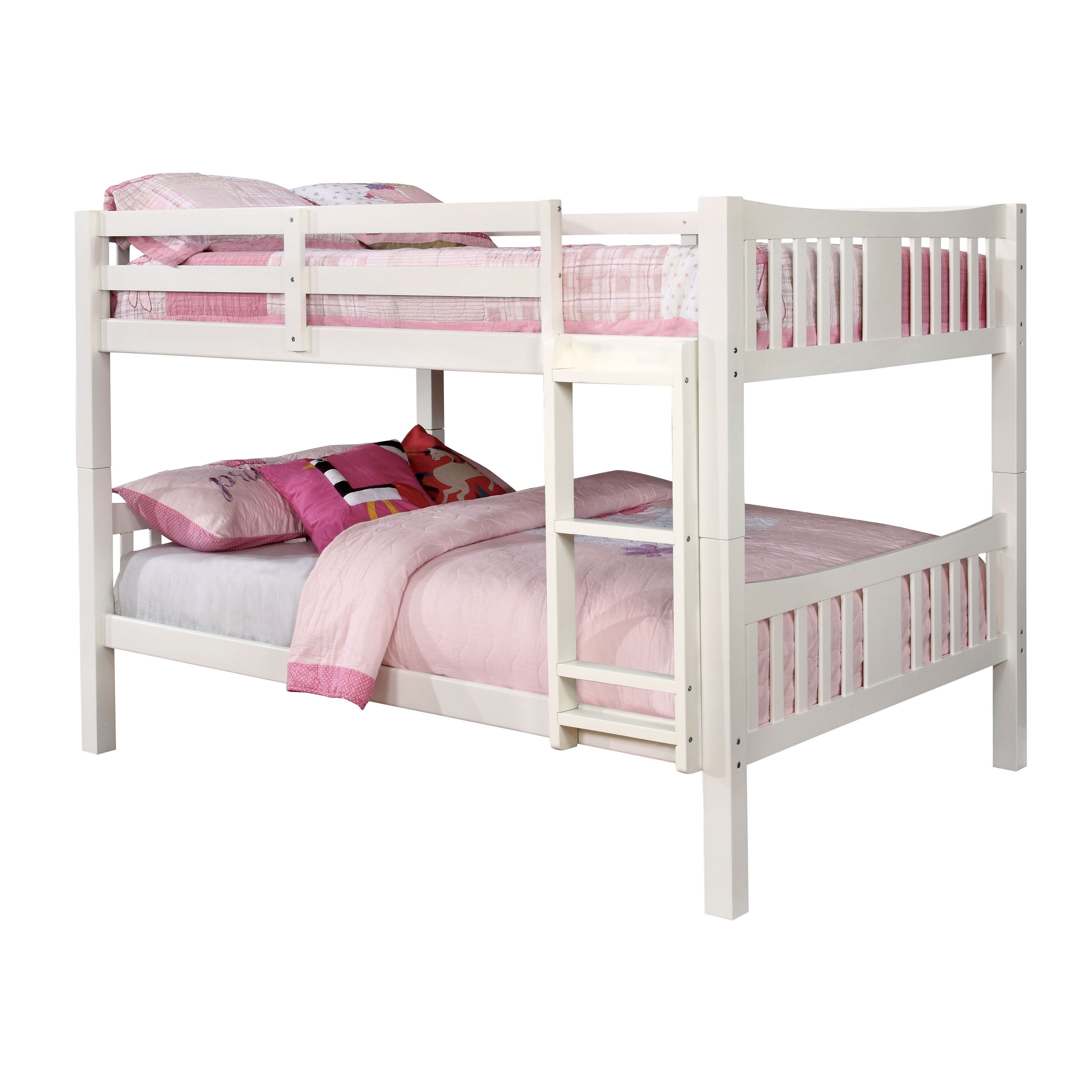 Shop Furniture Of America Pello Full Over Full Slatted Wooden Bunk