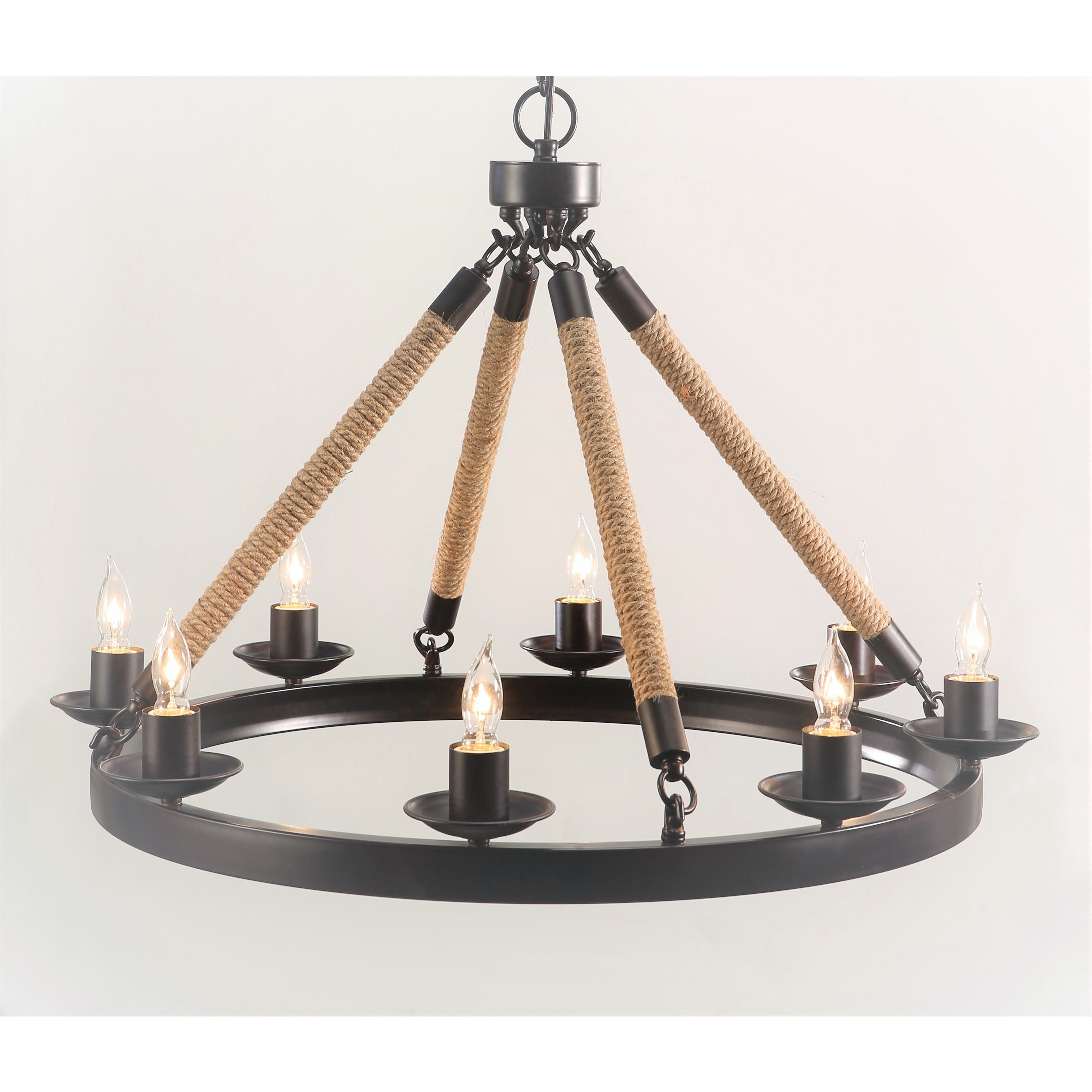Abbyson Grand Iron 8 light Chandelier Free Shipping Today