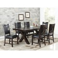 Abbyson Clarkston 7 Piece Espresso Dining Set