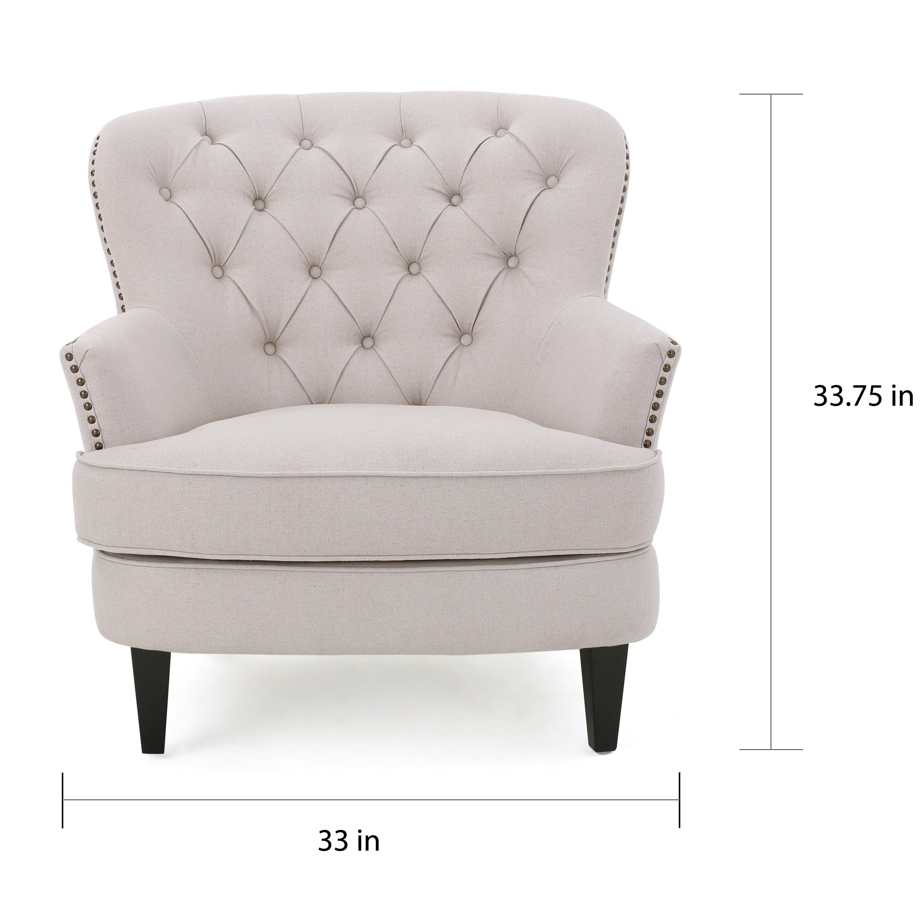 Tafton Tufted Fabric Club Chair With Ottoman By Christopher Knight Home Free Shipping Today 13288524