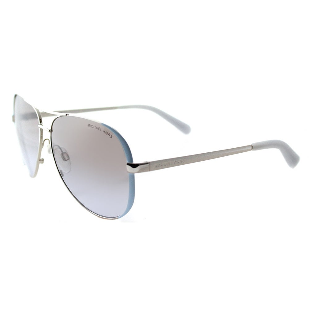 b01b889058ce2 Shop Michael Kors MK 5004 112494 Chelsea Periwinkle Silver Metal Aviator  Silver Gradient Mirrored Lens Sunglasses - Free Shipping Today - Overstock  - ...