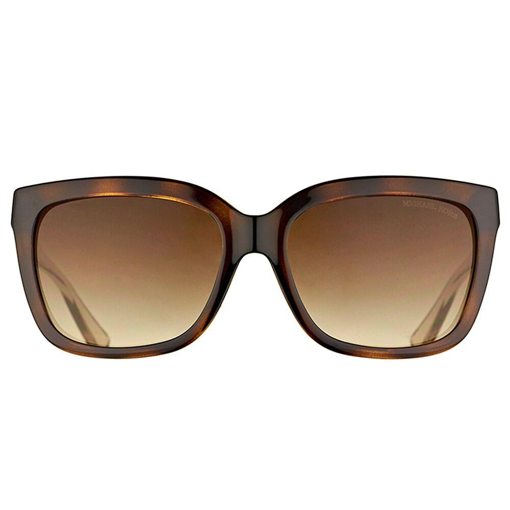 33f636588db3c Shop Michael Kors MK 6016 305413 Sandestin Tortoise Smokey Transparent  Plastic Square Brown Gradient Lens Sunglasses - Free Shipping Today -  Overstock - ...