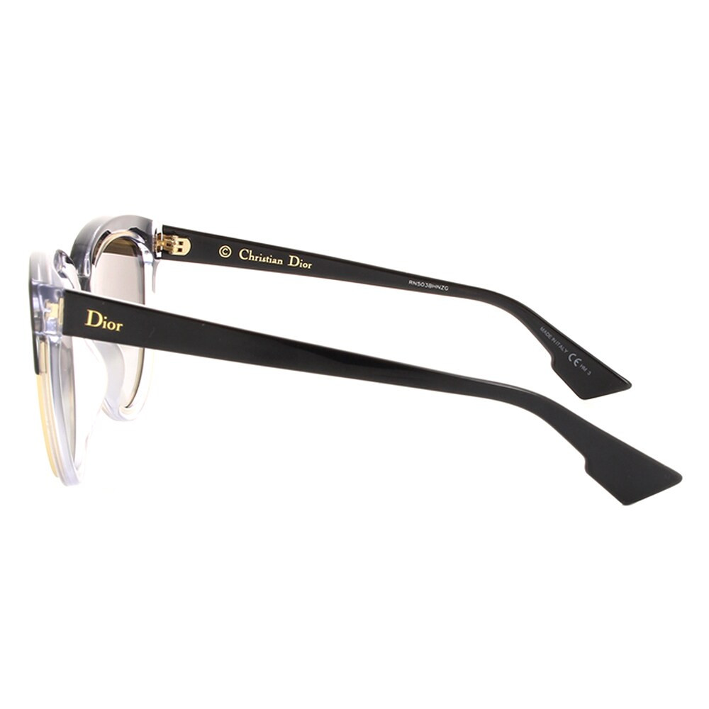 48d051a744 Shop Dior Dior Sight 1 S K4X 96 Black Crystal Metal Cat-Eye Silver Mirror  Lens Sunglasses - Free Shipping Today - Overstock - 13290132