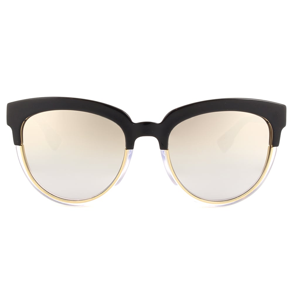 ed01ba3d5dfed Shop Dior Dior Sight 1 S K4X 96 Black Crystal Metal Cat-Eye Silver Mirror  Lens Sunglasses - Free Shipping Today - Overstock - 13290132