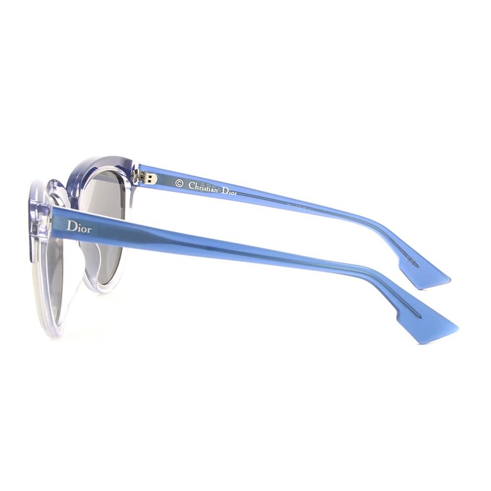 4b7ce762e63f3 Shop Dior Dior Sight 1 S REN T7 Blue Crystal Metal Cat-Eye Blue Mirror Lens  Sunglasses - Free Shipping Today - Overstock.com - 13290133