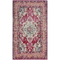 Safavieh Monaco Bohemian Medallion Pink/ Multicolored Distressed Rug (2' 2 x 4')