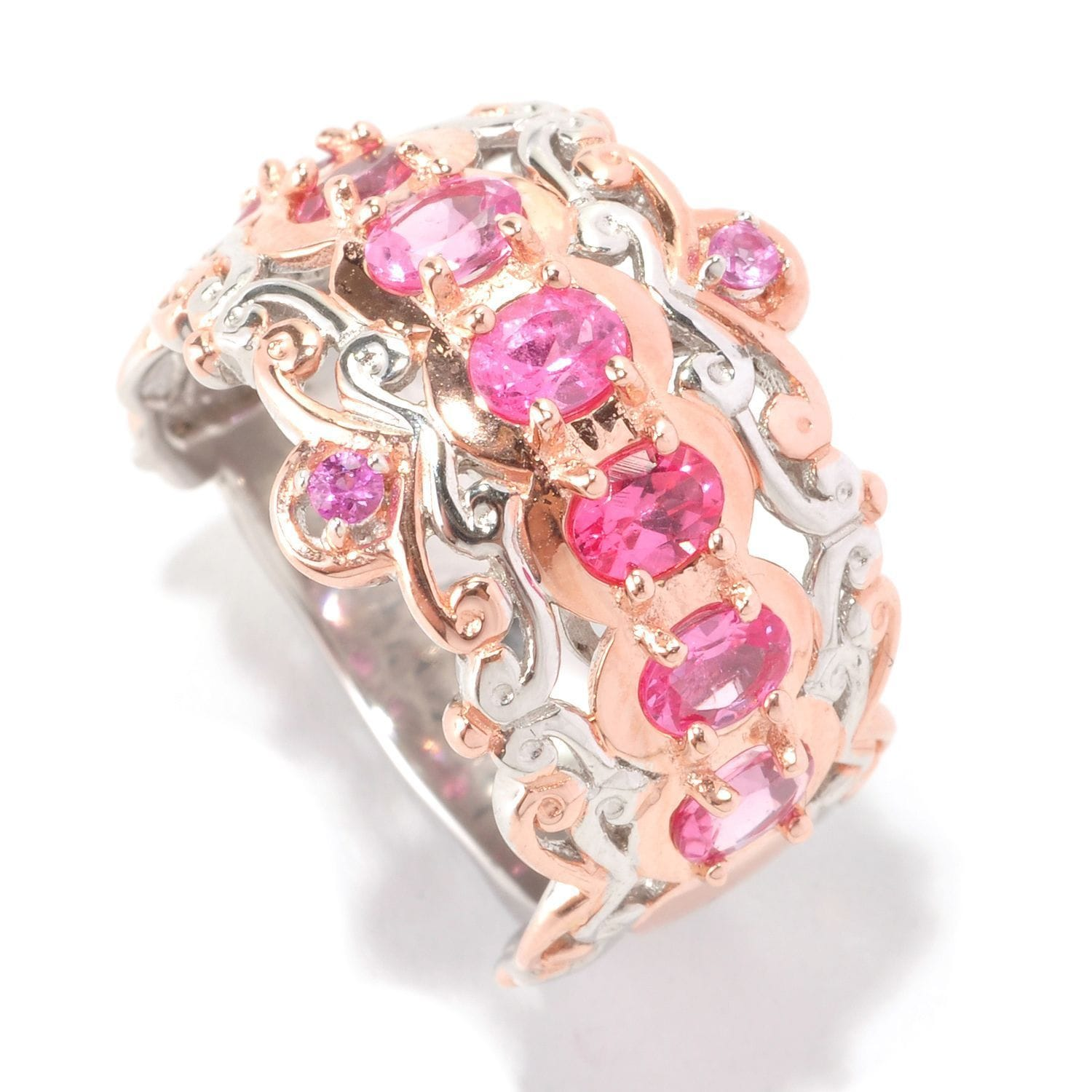 Shop Michael Valitutti Palladium Silver Tanzanian Pink Spinel and ...