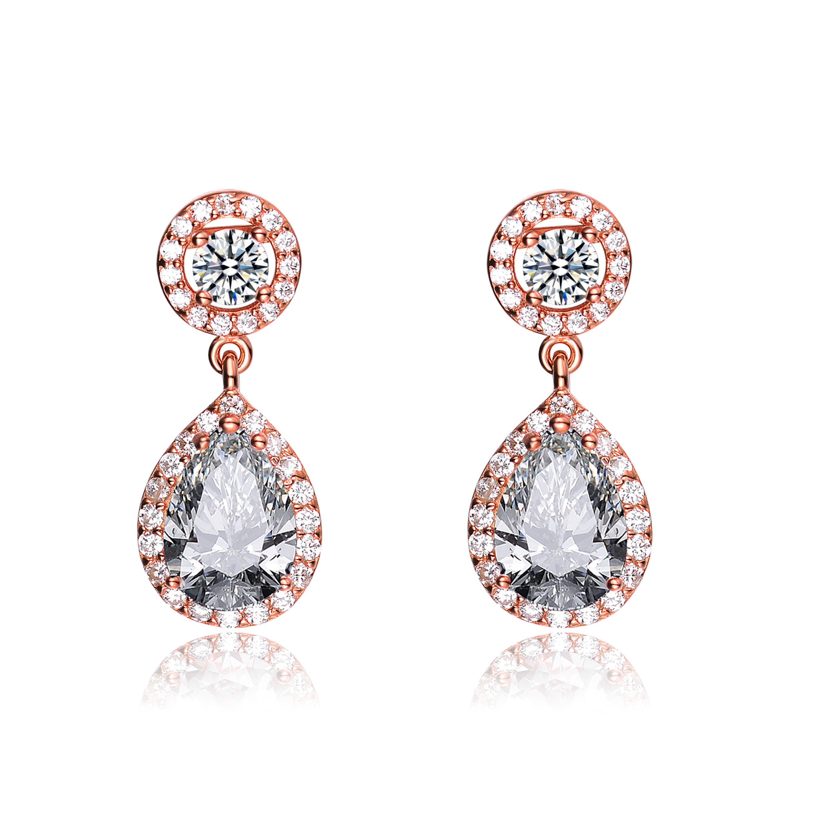 1afe788af4a39 Collette Z Sterling Silver Cubic Zirconia Pear Drop Earrings - White