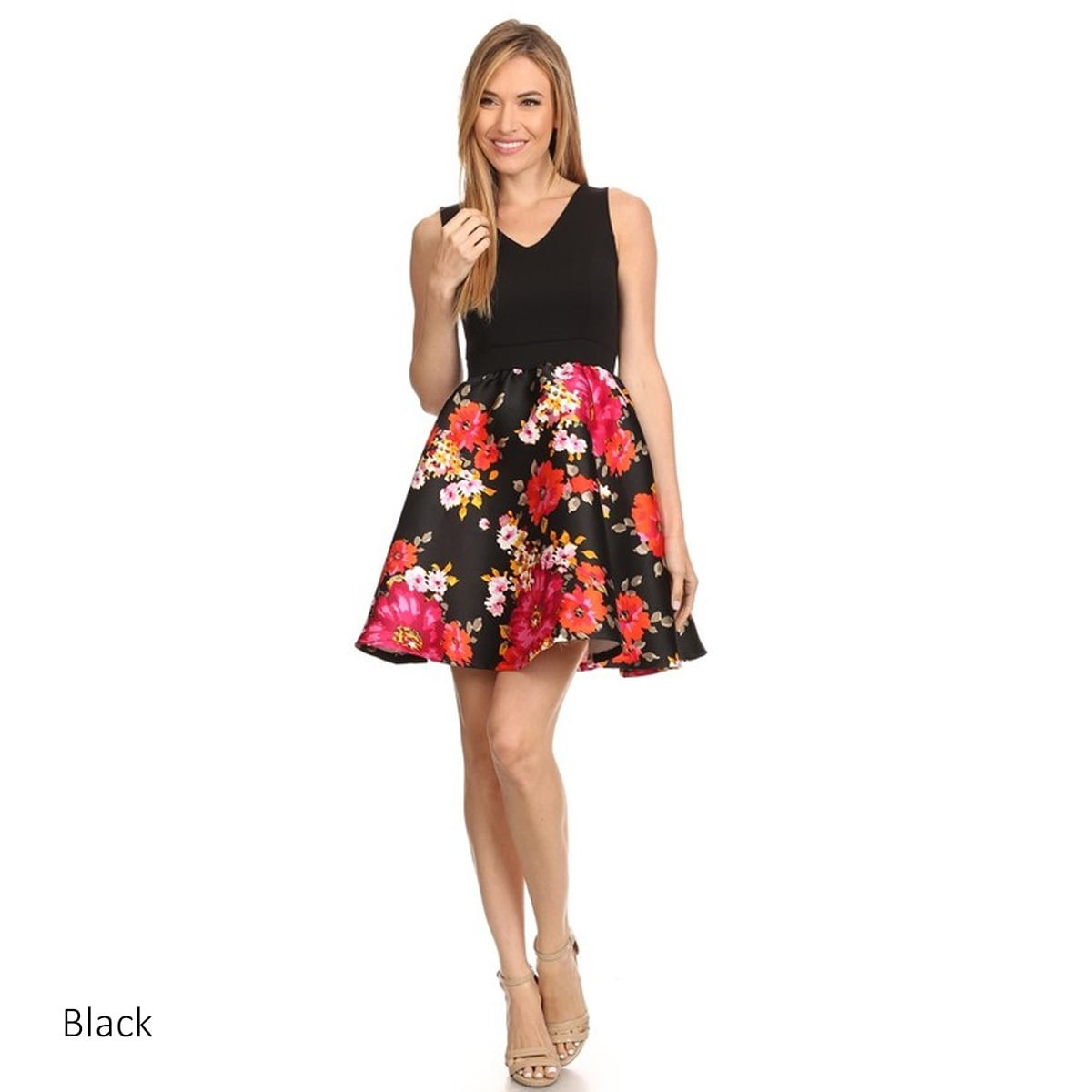 ffbd840e77e Shop MOA Collection Women s Floral Fit-and-flare Dress - On Sale - Free  Shipping On Orders Over  45 - Overstock - 13297865