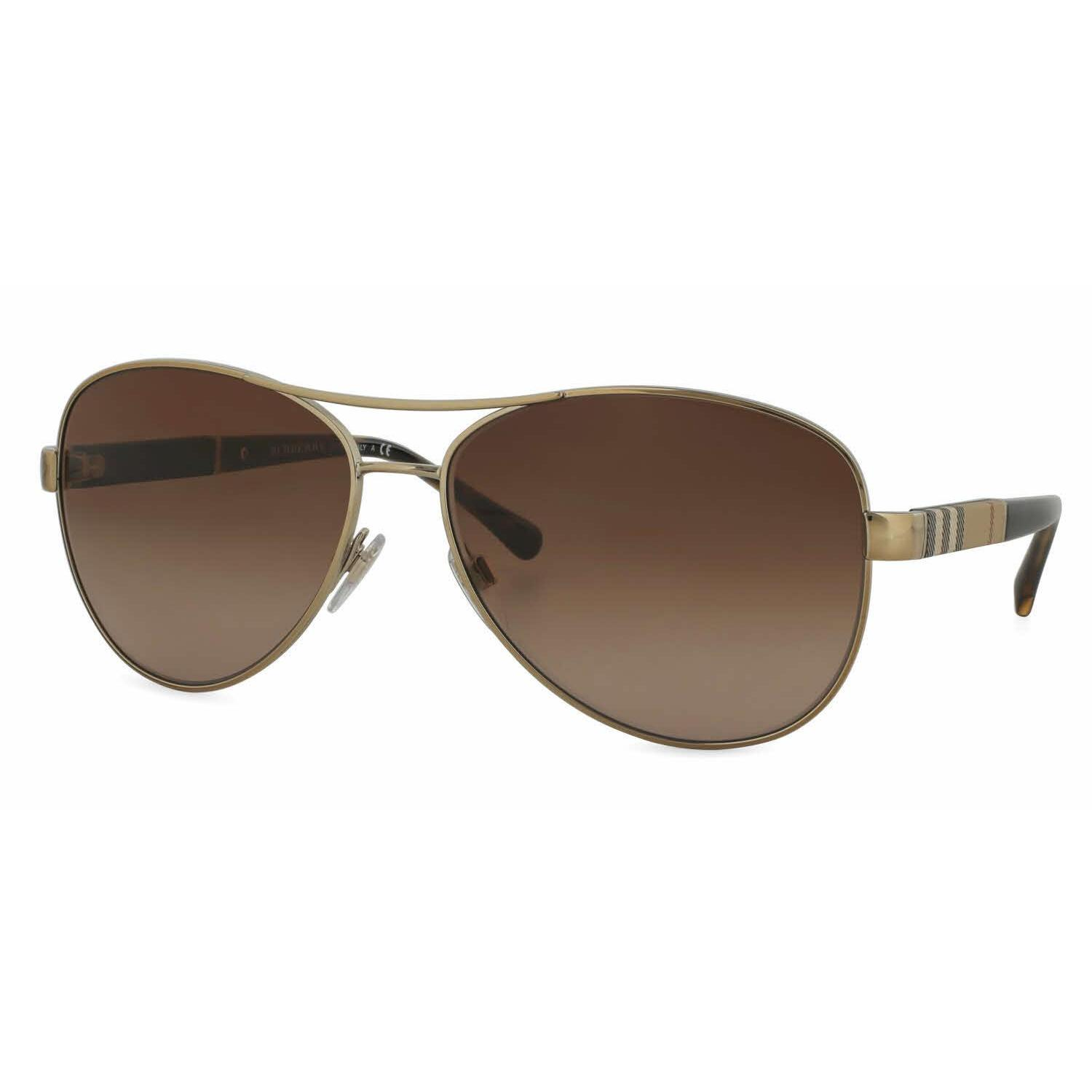 a5c4f45fb4d Shop Burberry Women BE3080 114513 Gold Cateye Sunglasses - Free Shipping  Today - Overstock - 13298311