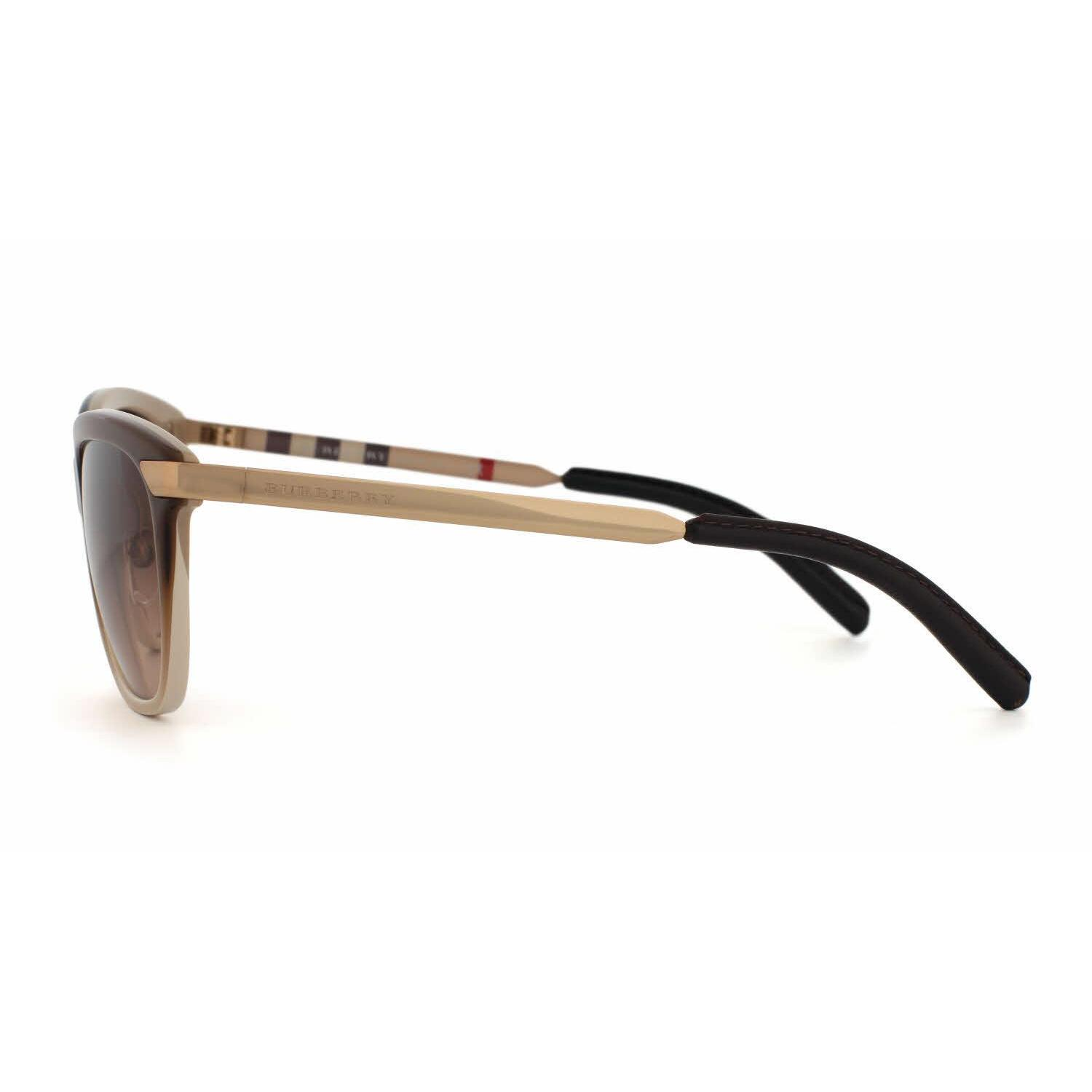 d394ef75143 Shop Burberry Women BE4169Q 342613 Light Brown Metal Square Sunglasses -  Free Shipping Today - Overstock - 13298333