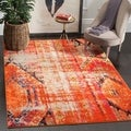 Safavieh Monaco Vintage Bohemian Orange/ Multi Distressed Rug (9' x 12')