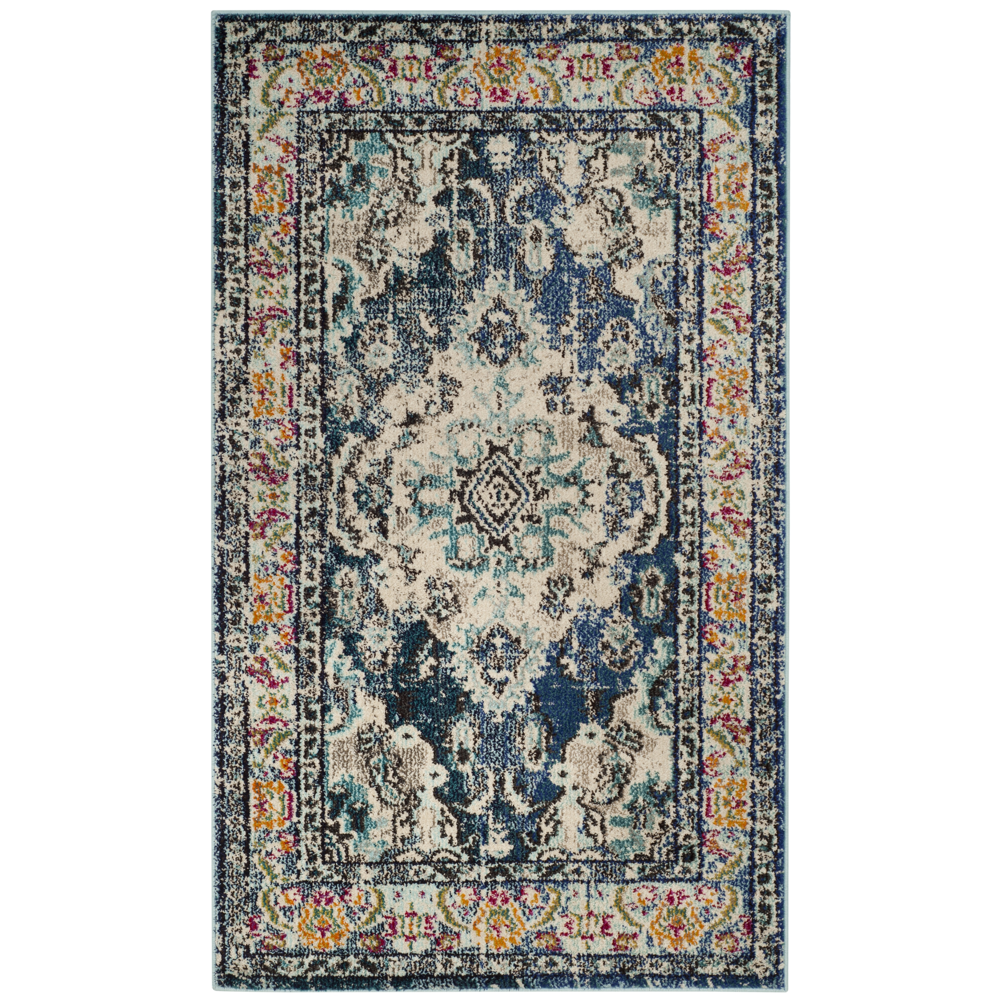 garden rug safavieh product shag home milan free x today shipping navy blue overstock
