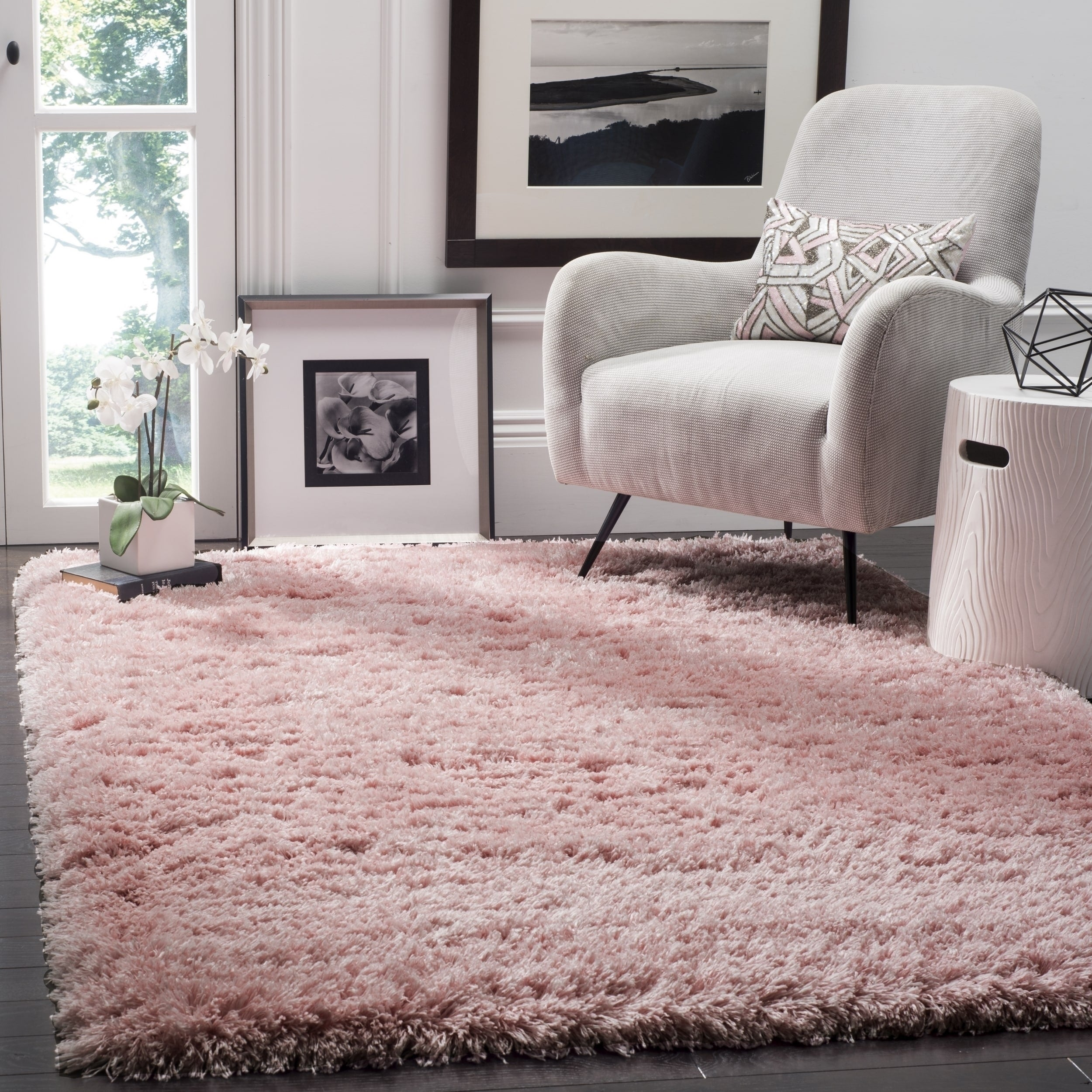 Safavieh Polar Light Pink Shag Rug 8 X 10 On Free Shipping Today Com 13299342
