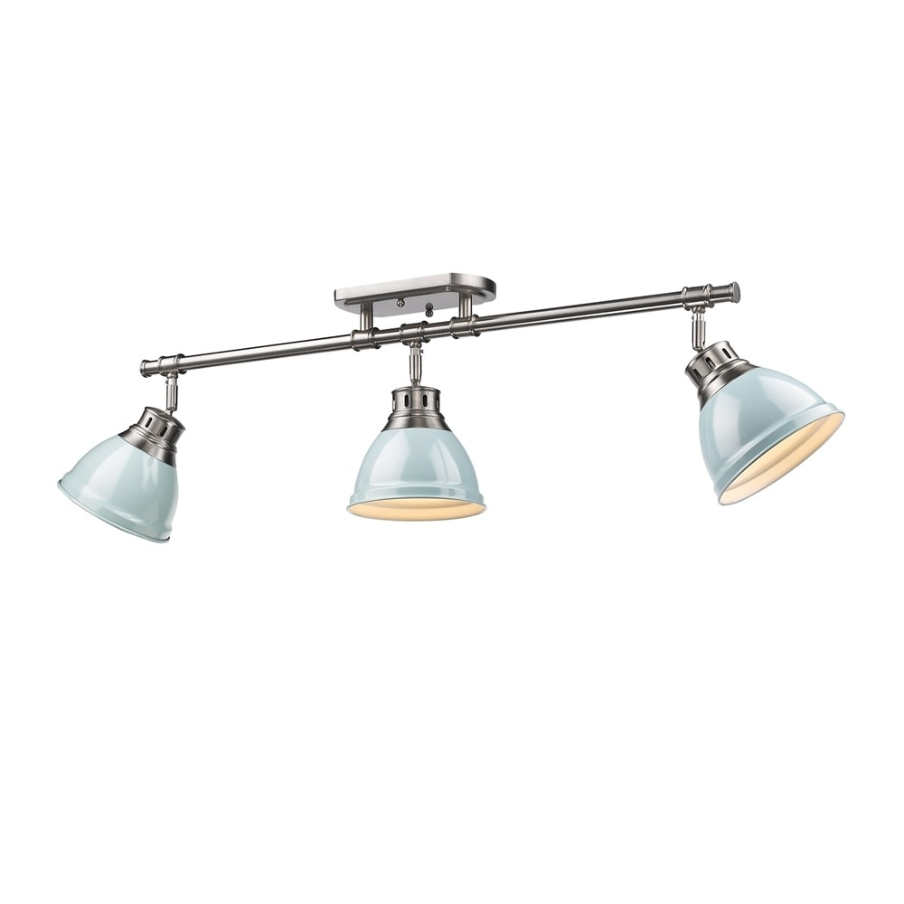 Golden Lighting Duncan Seafoam Pewter 3 Light Semi Flush Mount Track Free Shipping Today 13306503