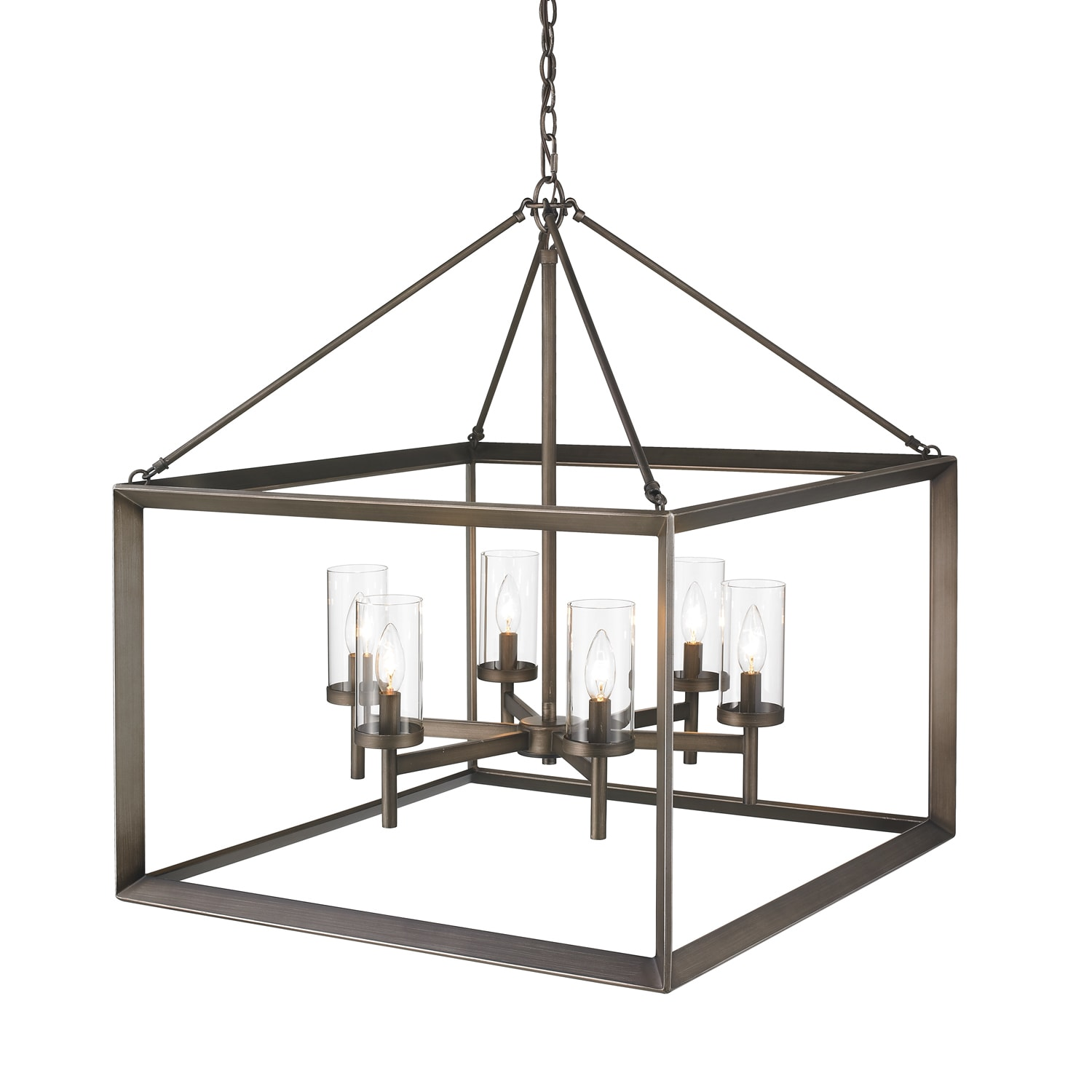 golden lighting chandelier. Golden Lighting Smyth Gunmetal Bronze Steel 6-light Chandelier With Clear Glass - Free Shipping Today Overstock 20014651