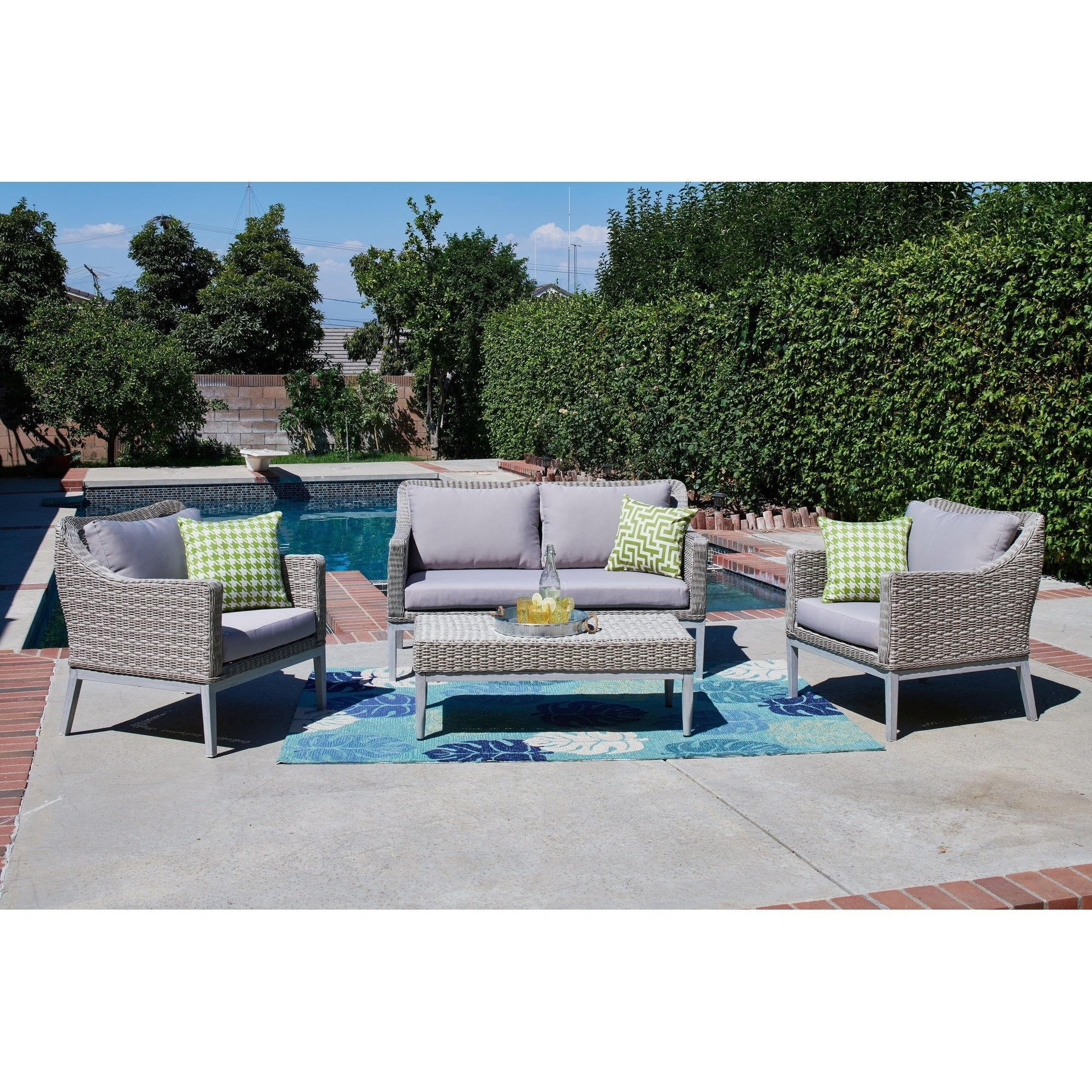 Monti 4 Piece Outdoor Wicker Conversation Set