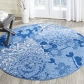 Safavieh Adirondack Vintage Damask Light Blue/ Dark Blue Rug (4' Round)
