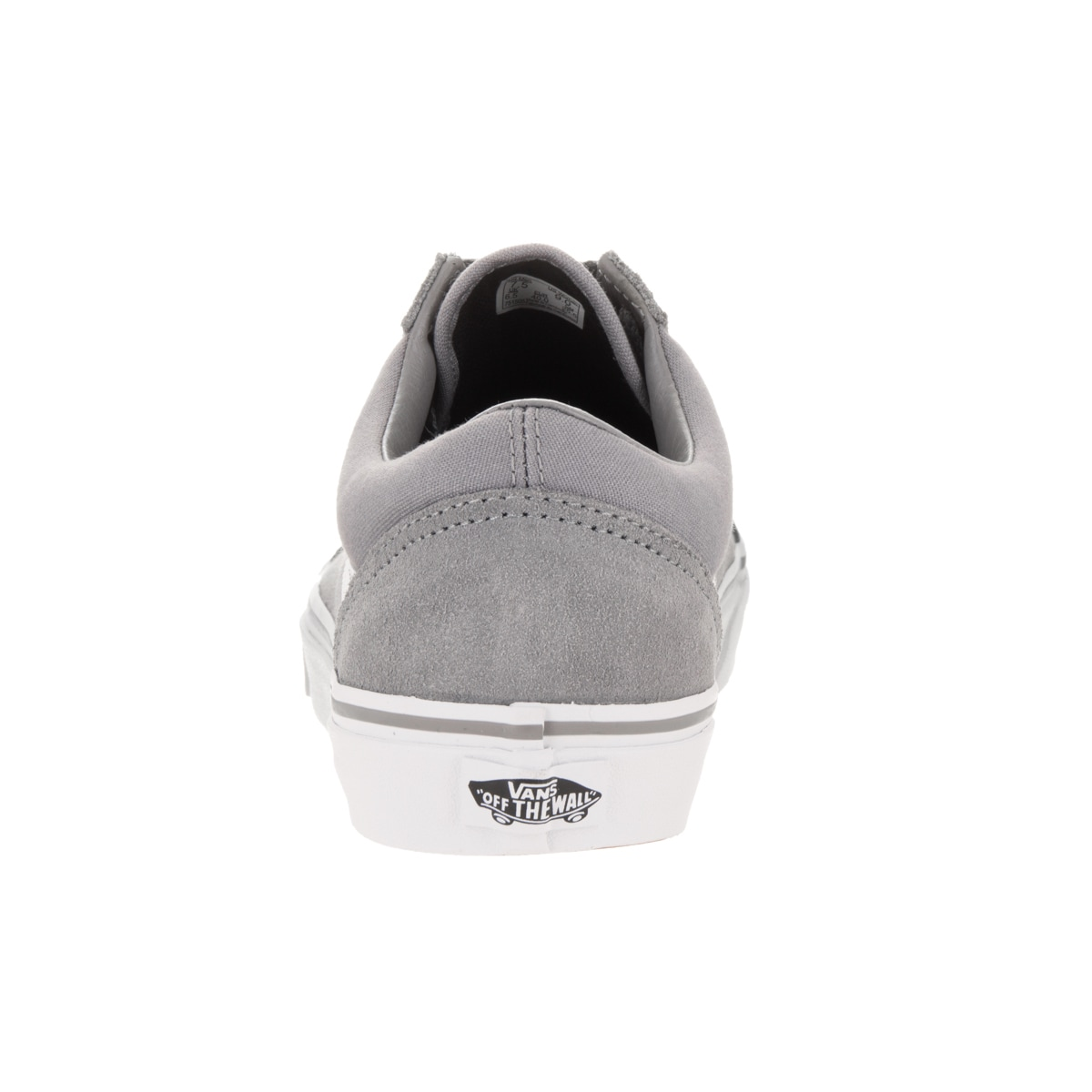 6e880f23b0 Shop Vans Old Skool Grey and White Suede and Canvas Skate Shoe - Free  Shipping Today - Overstock - 13312161